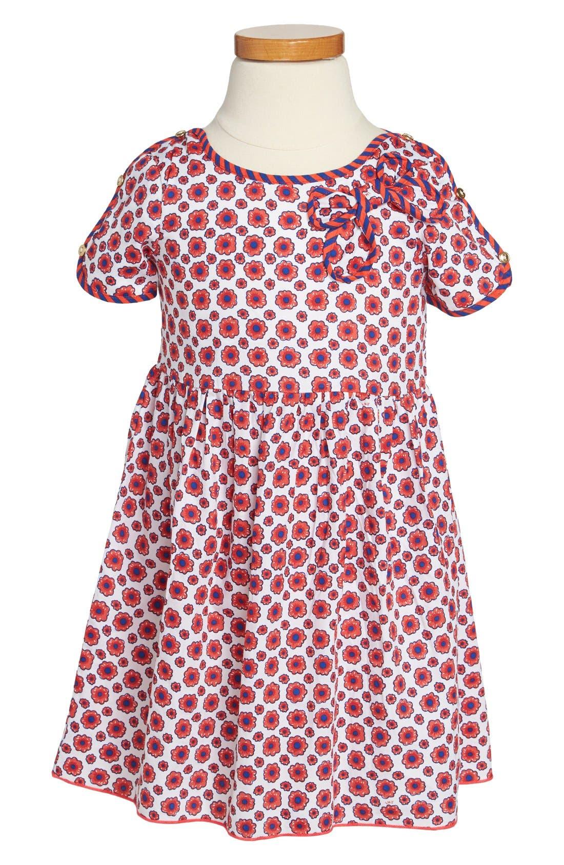 Main Image - LITTLE MARC JACOBS Floral Print Woven Dress (Toddler Girls)