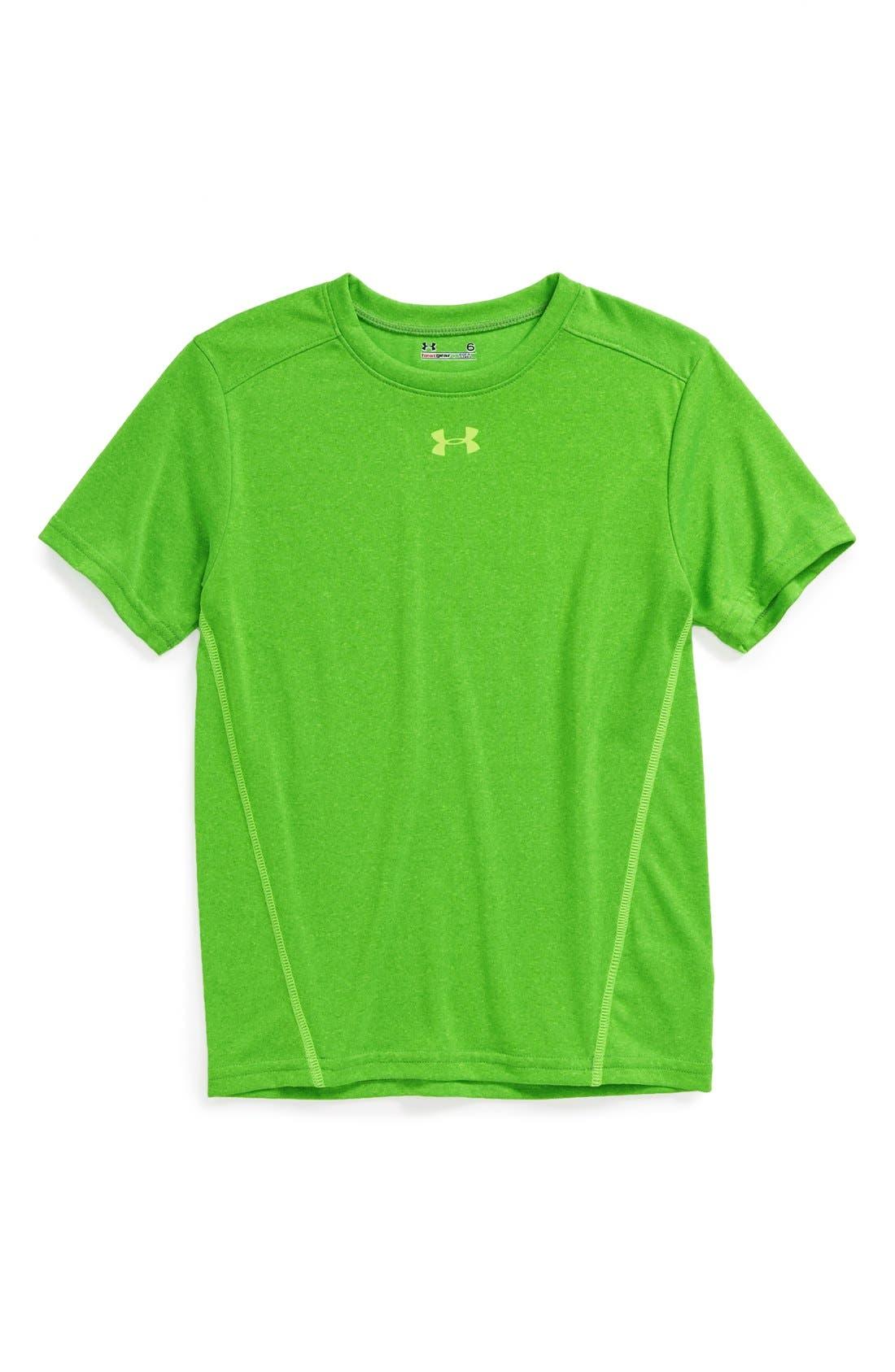 Main Image - Under Armour 'Comingled' HeatGear® T-Shirt (Little Boys)