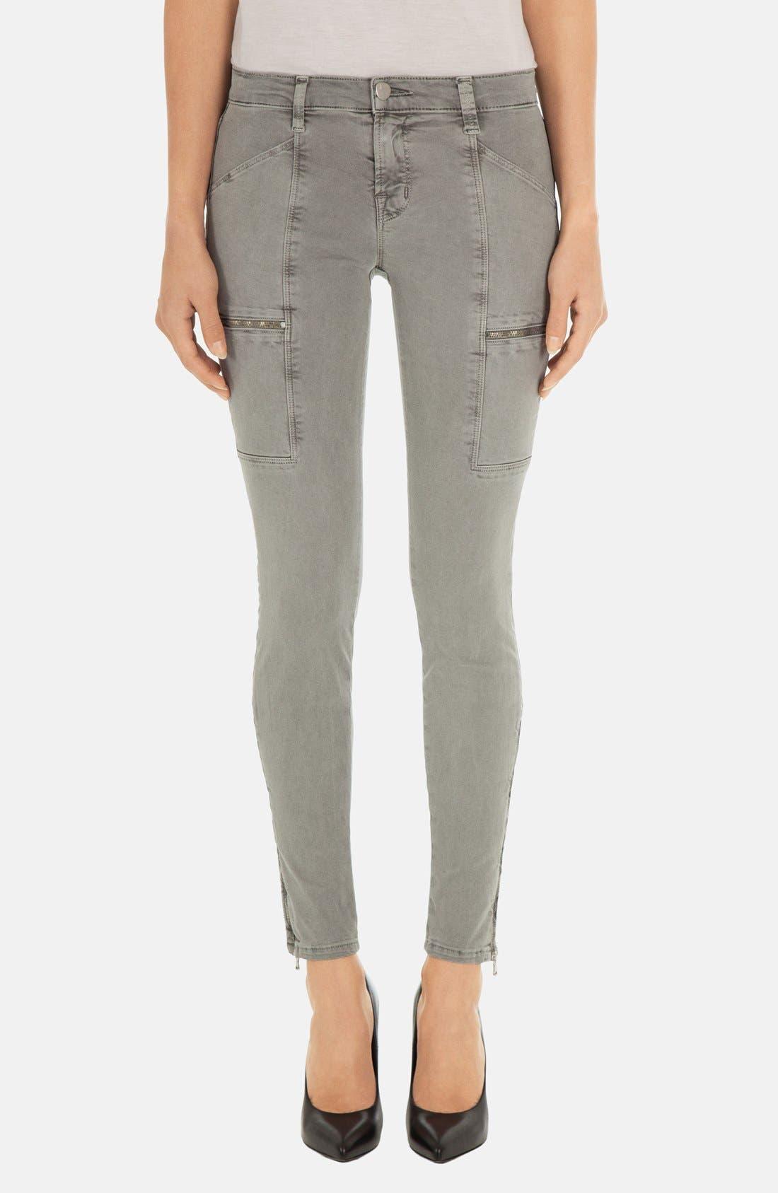 Alternate Image 1 Selected - J Brand 'Kassidy' Skinny Jeans (Vintage Olive)