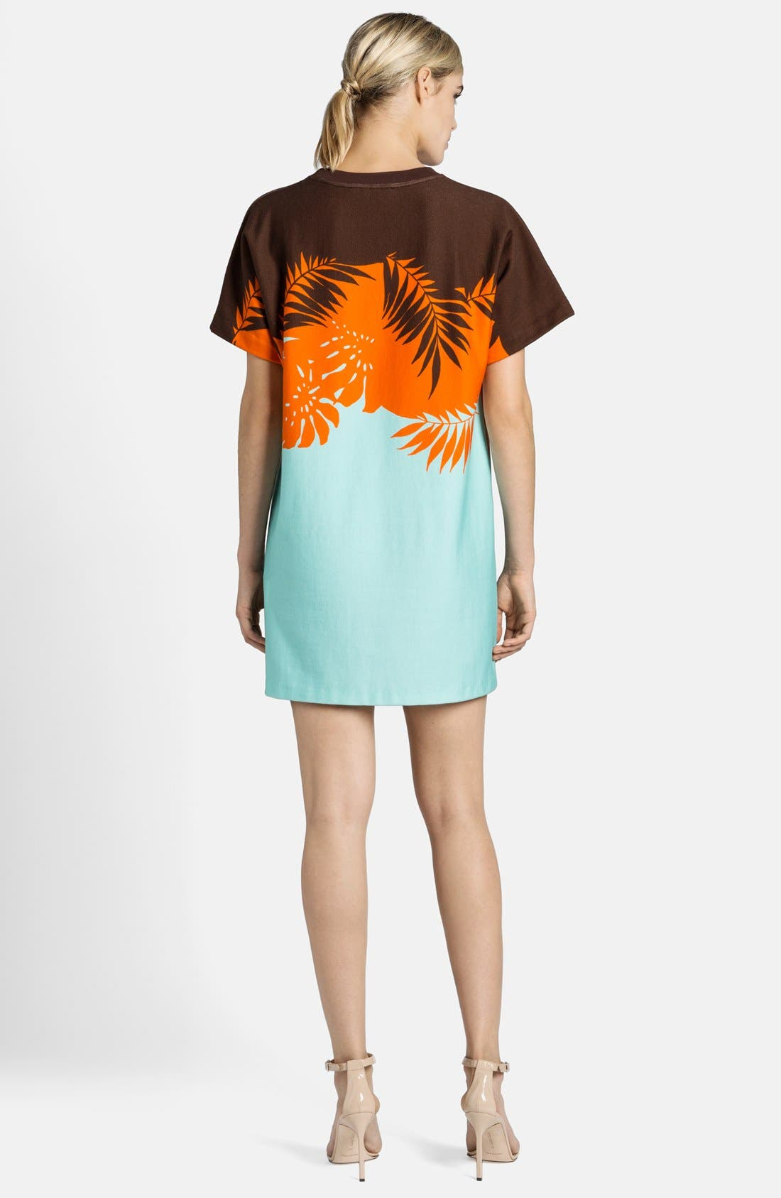 Alternate Image 2  - MSGM Palm Tree Knit Shift Dress