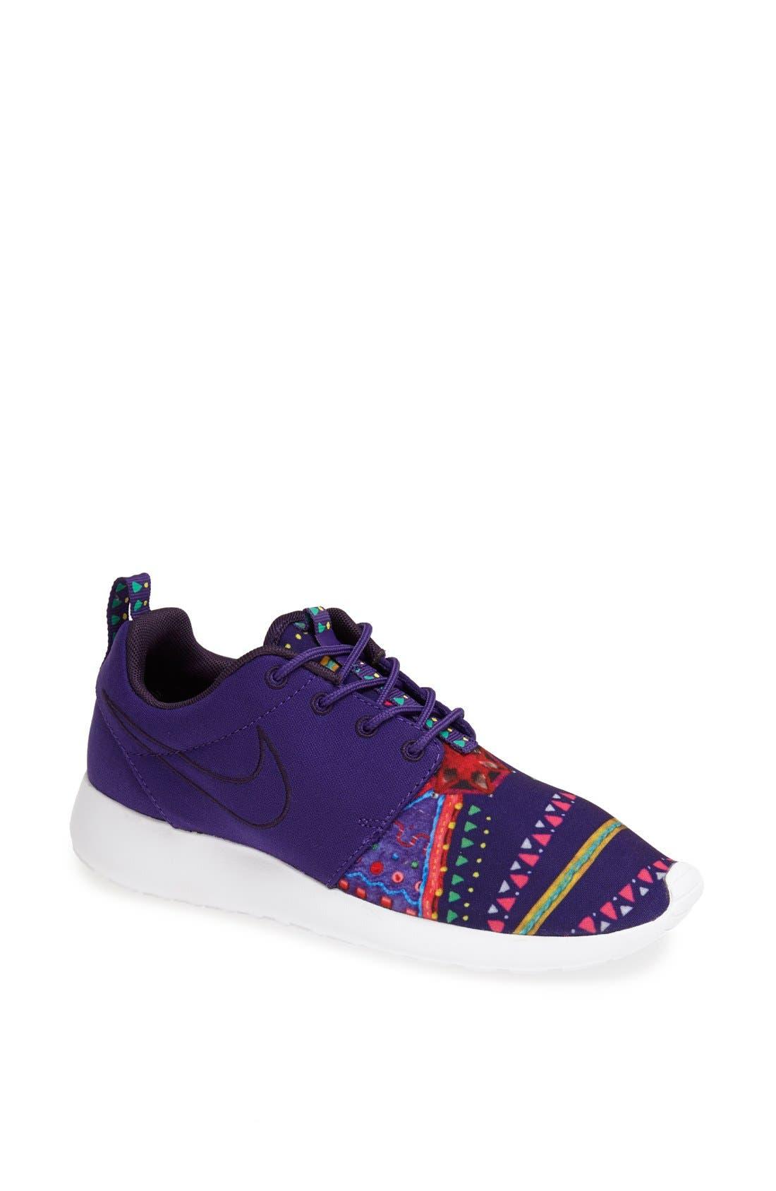 Alternate Image 1 Selected - Nike 'Roshe Run MP QS' Print Sneaker (Women)