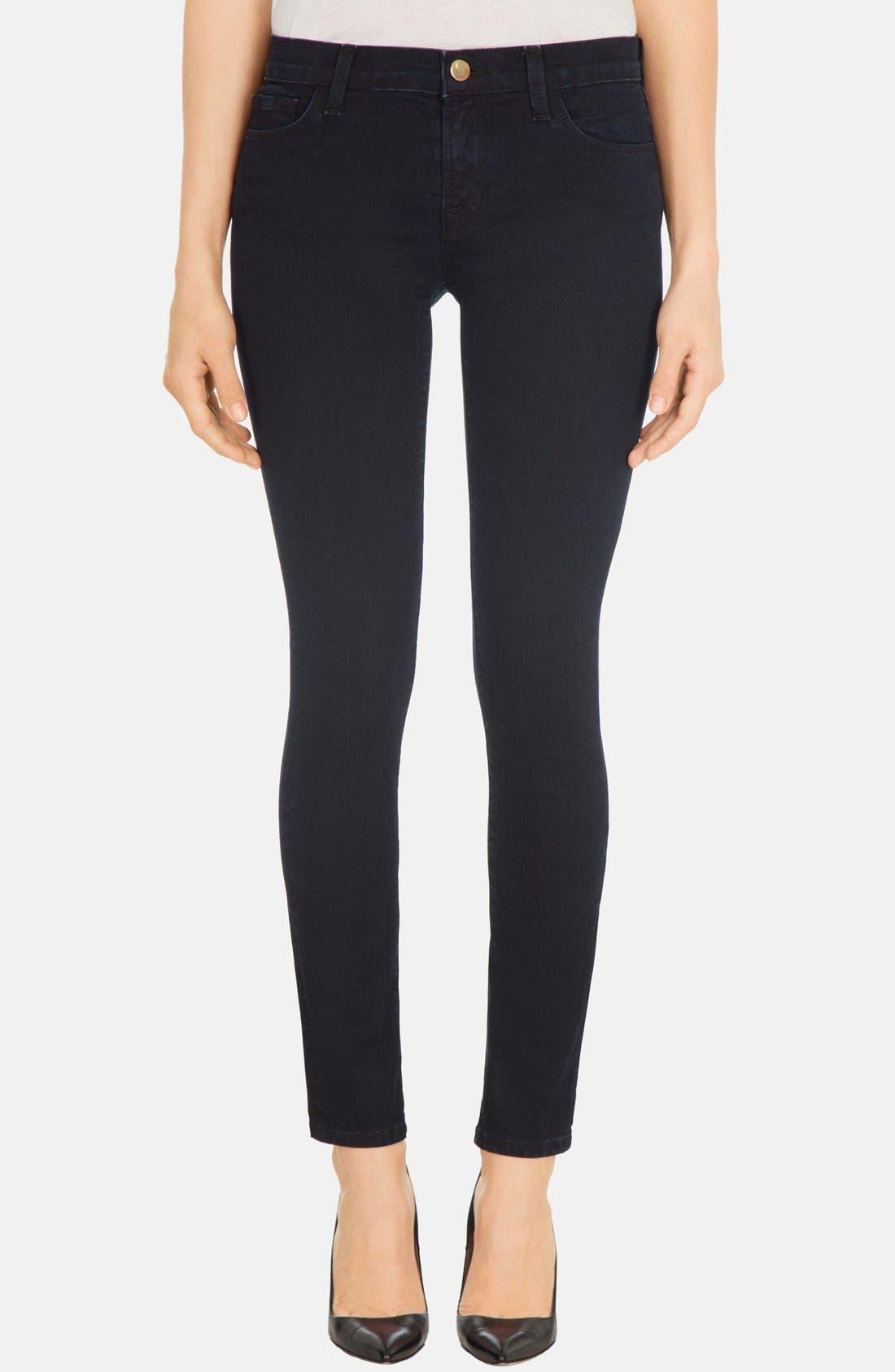 Alternate Image 1 Selected - J Brand Skinny Stretch Denim Jeans (Blue Bird)