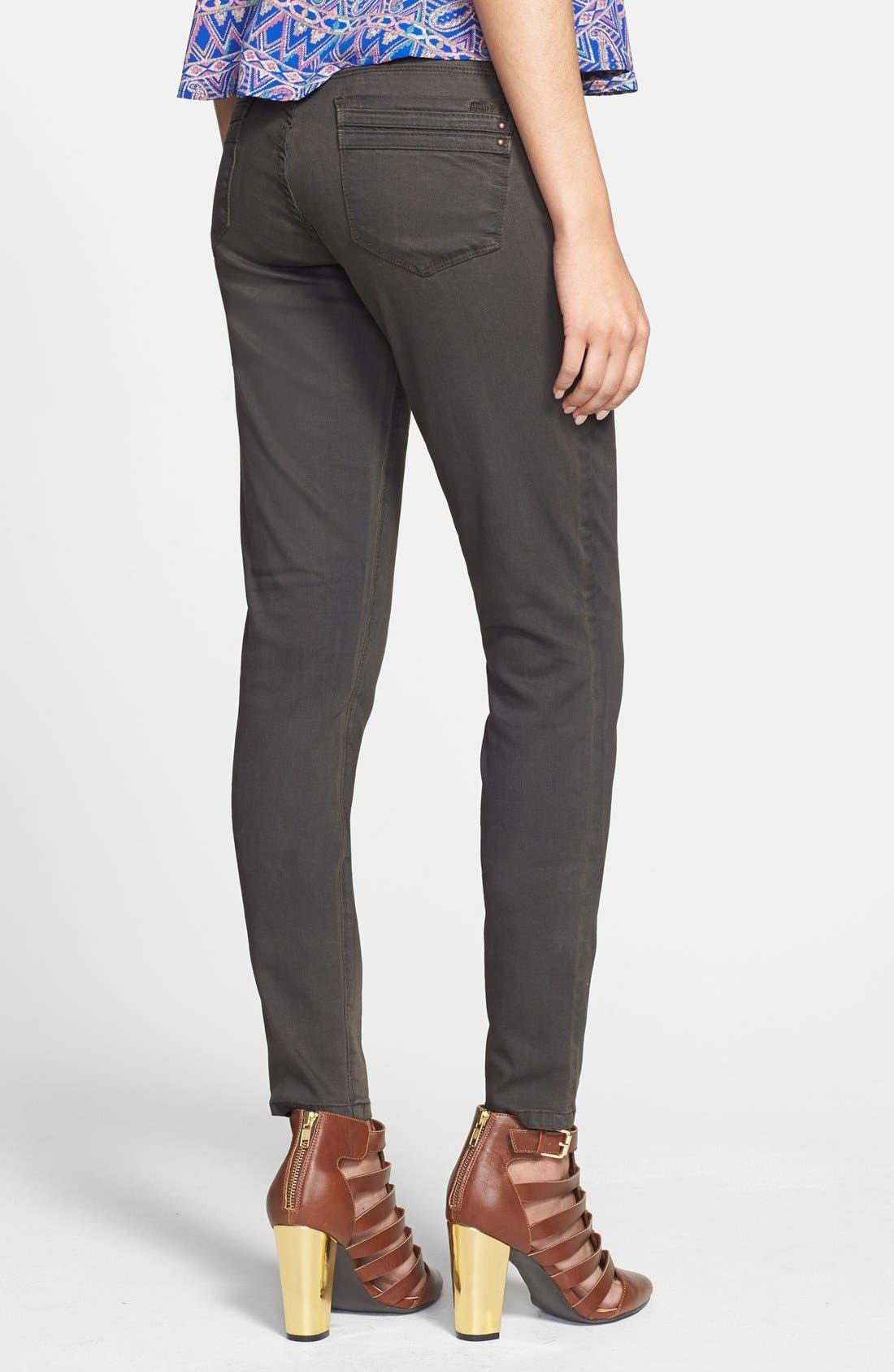 Alternate Image 2  - HART Denim Overdyed Skinny Jeans (Brown) (Juniors)