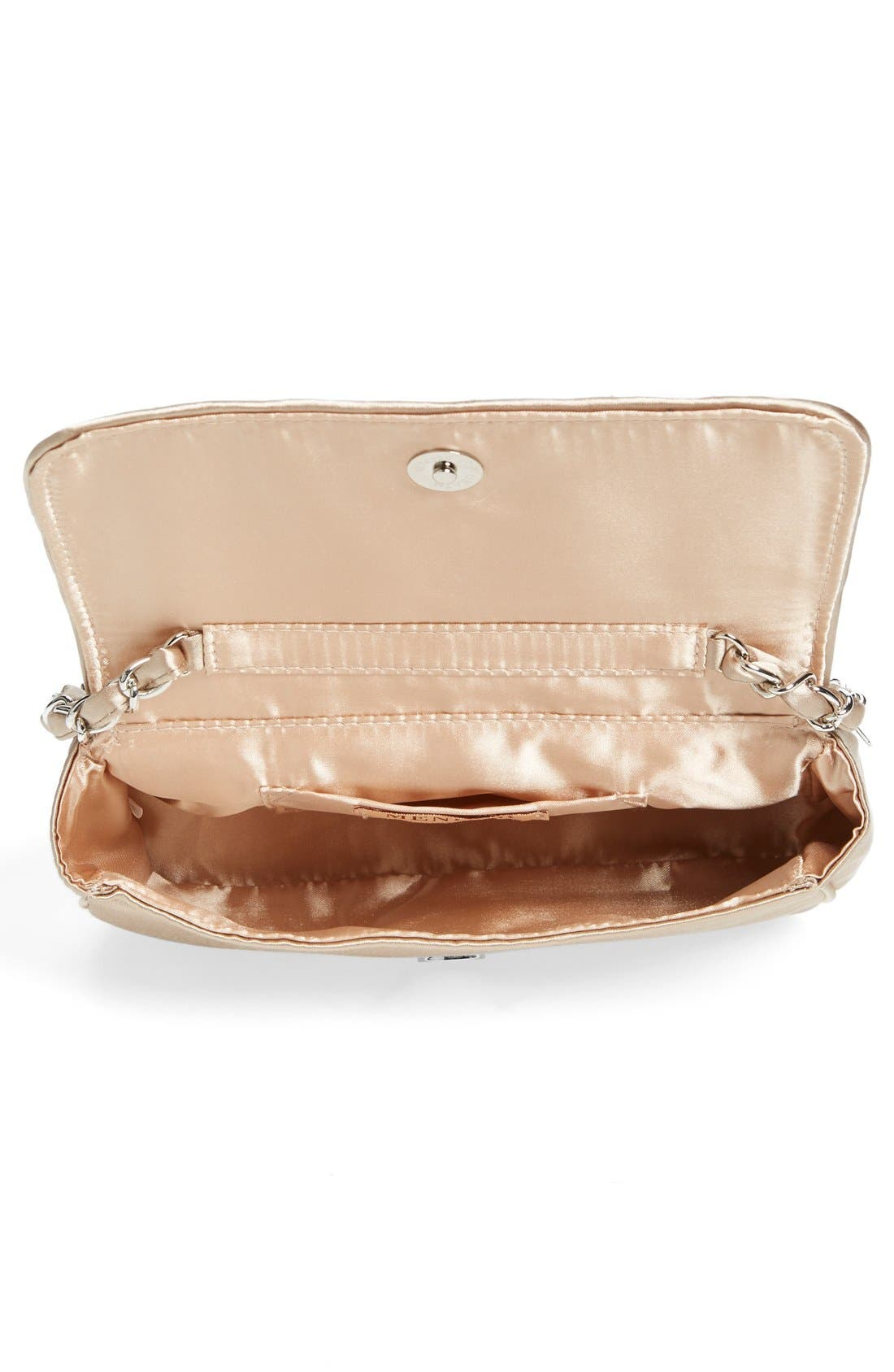 'Lassus' Satin Clutch,                             Alternate thumbnail 4, color,                             Stone
