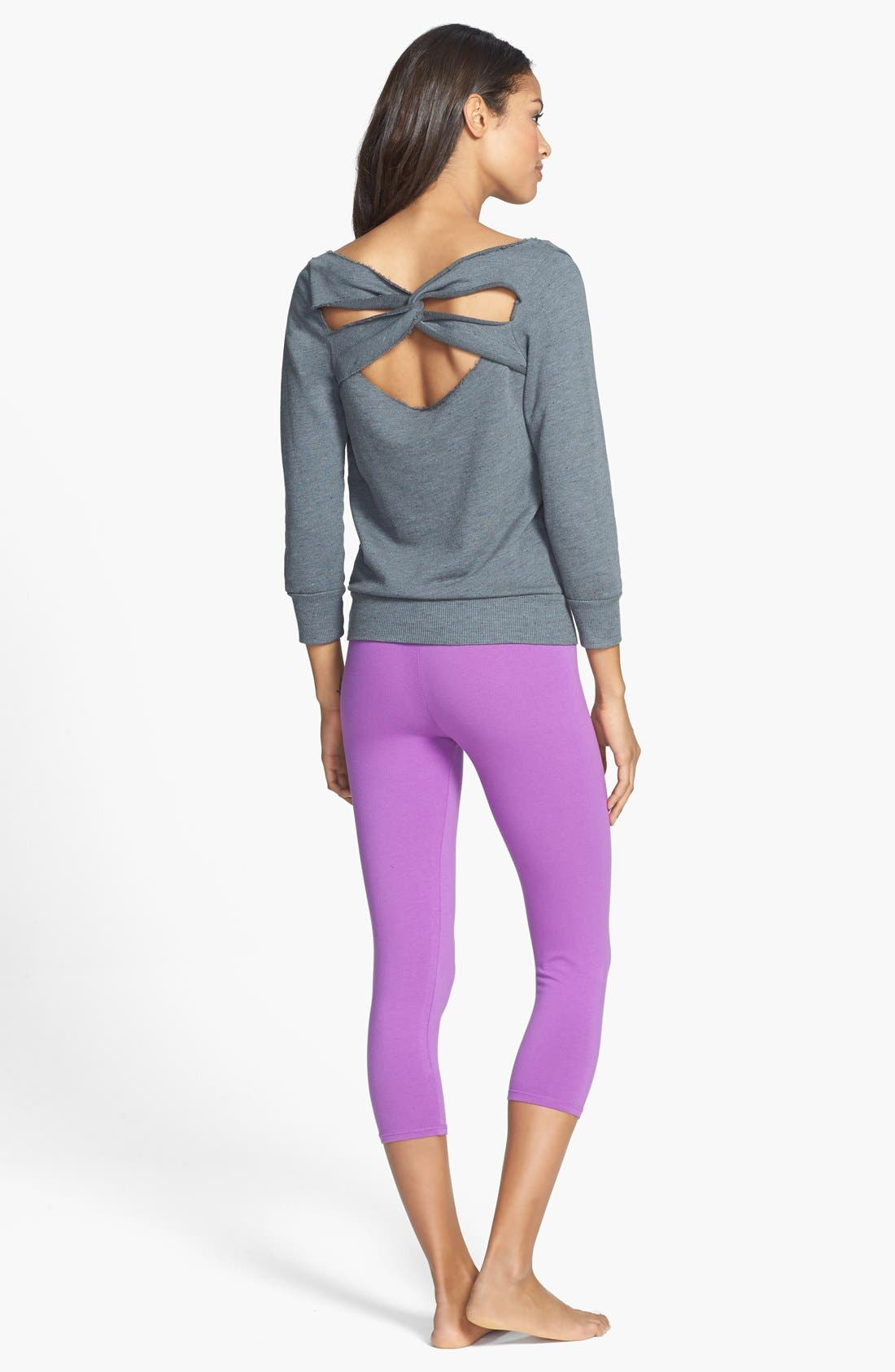 Alternate Image 4  - Solow Twist Back Sweatshirt