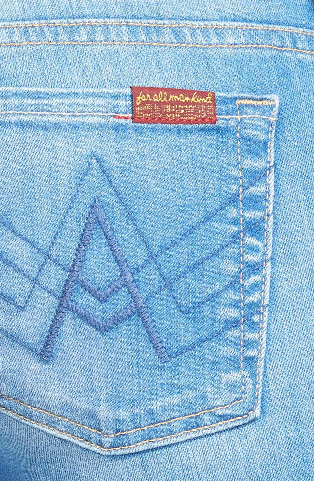 Alternate Image 3  - 7 For All Mankind® 'A-Pocket' Bootcut Jeans (Petite) (Dutch Blue)