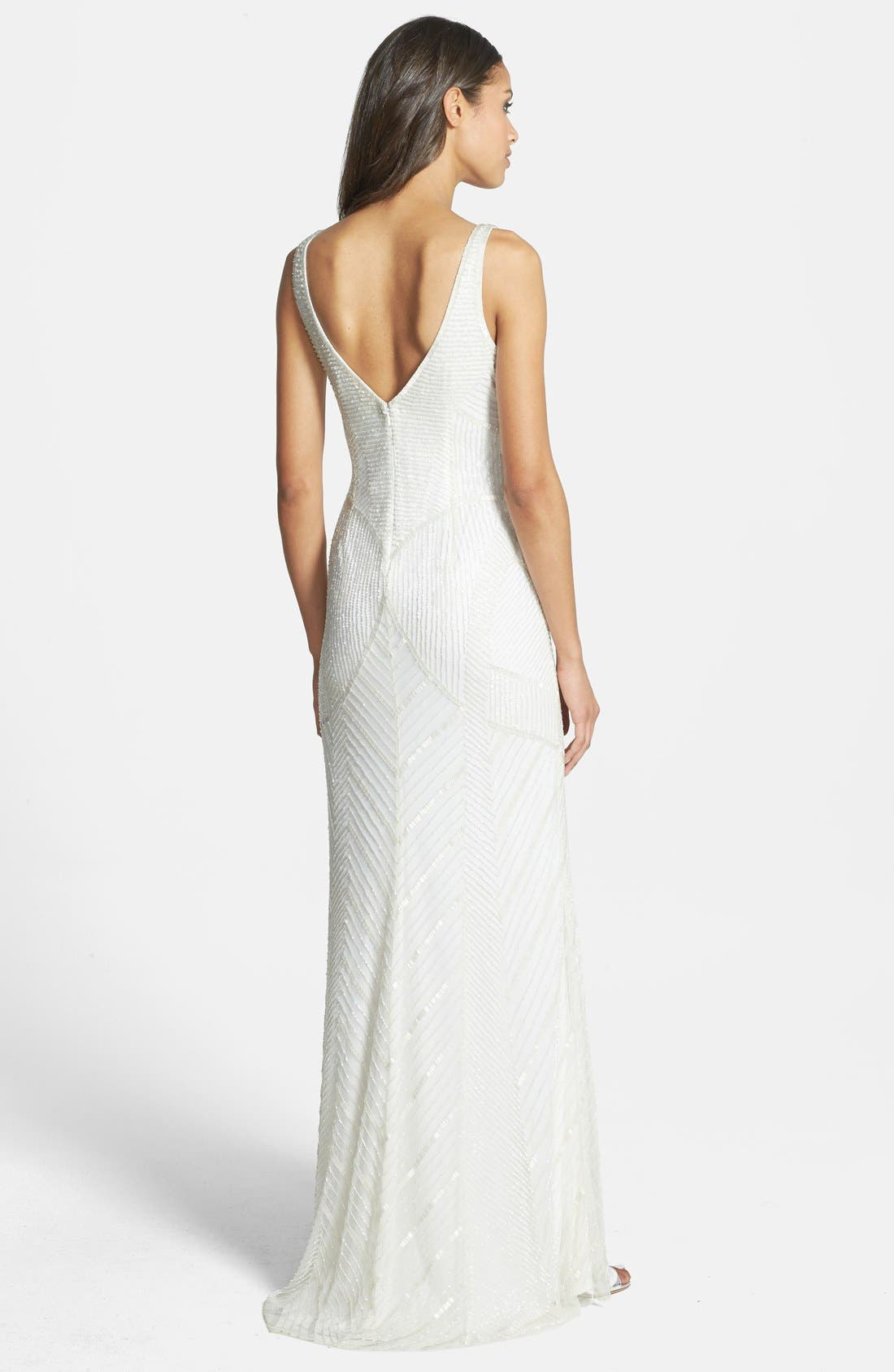 Alternate Image 2  - Adrianna Papell Long Beaded Gown