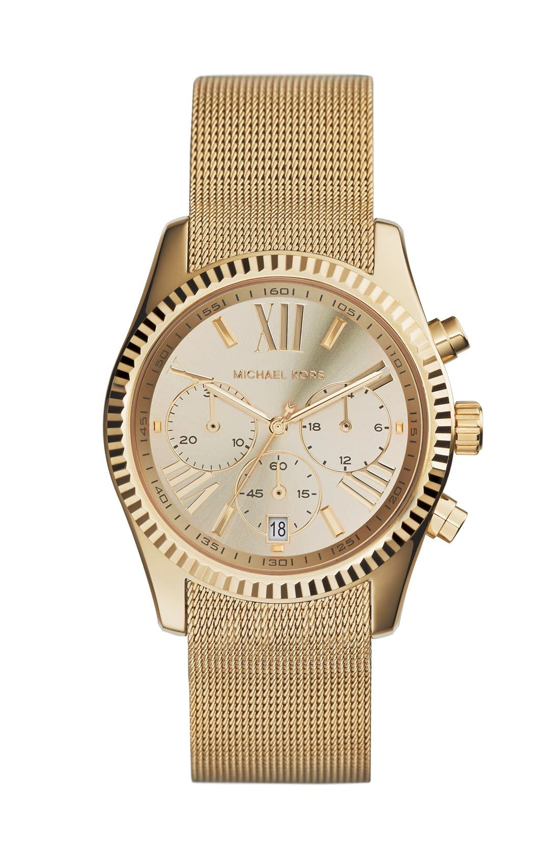 Alternate Image 1 Selected - Michael Kors 'Lexington' Chronograph Mesh Strap Watch, 37mm