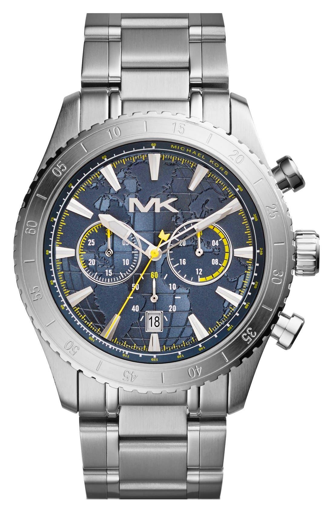 Main Image - Michael Kors 'Richardson' Chronograph Bracelet Watch, 45mm