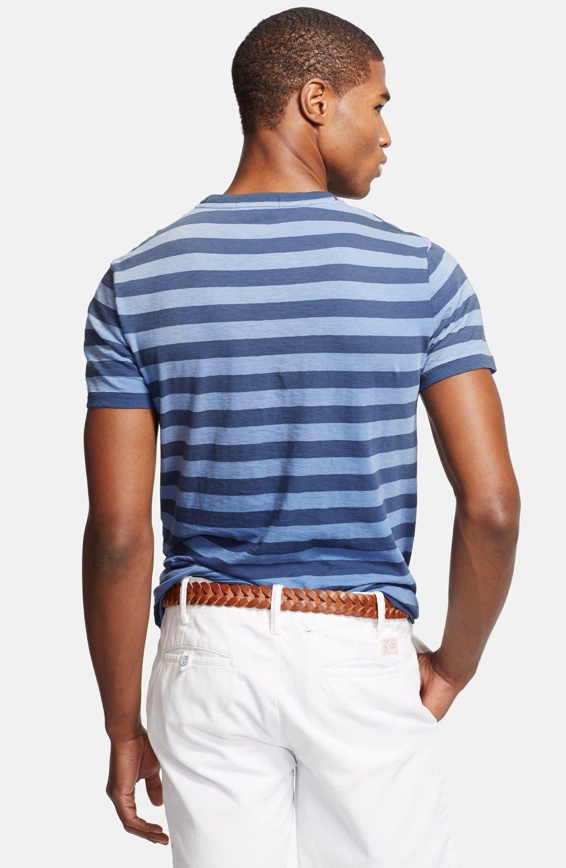 Alternate Image 2  - Polo Ralph Lauren Stripe Crewneck T-Shirt