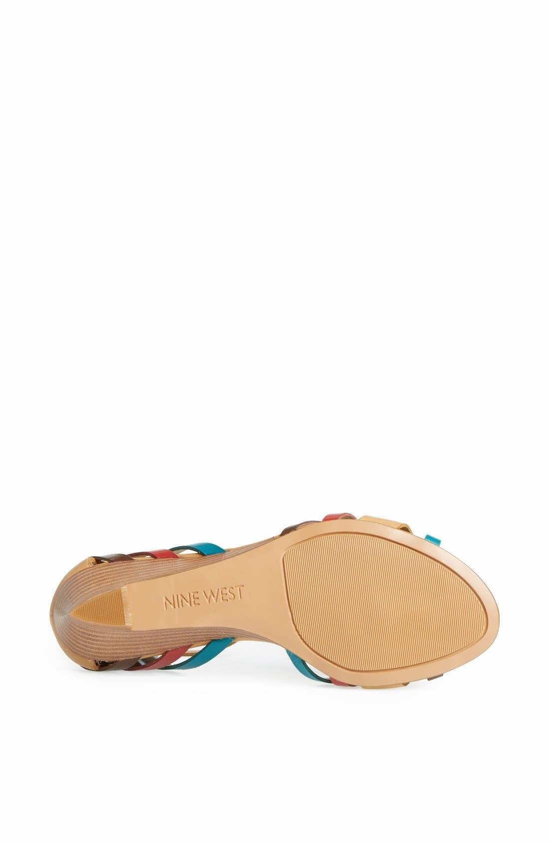 Alternate Image 4  - Nine West 'Villea' Ankle Strap Wedge Sandal