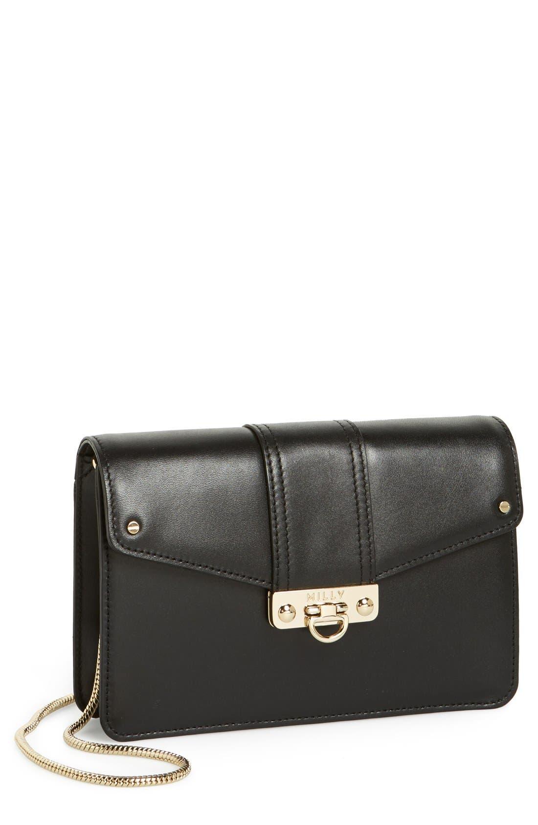 Main Image - Milly 'Mini Bryant' Leather Crossbody Bag