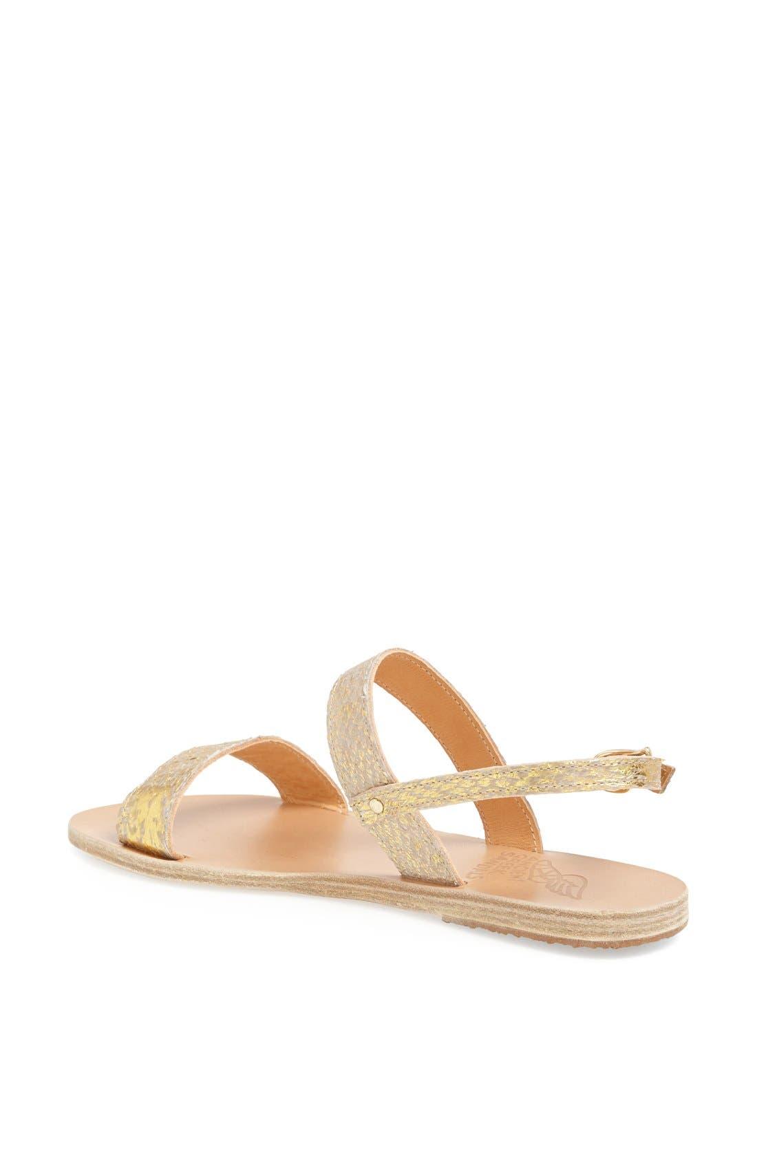 Alternate Image 2  - Ancient Greek Sandals 'Clio' Metallic Salmon Skin Sandal