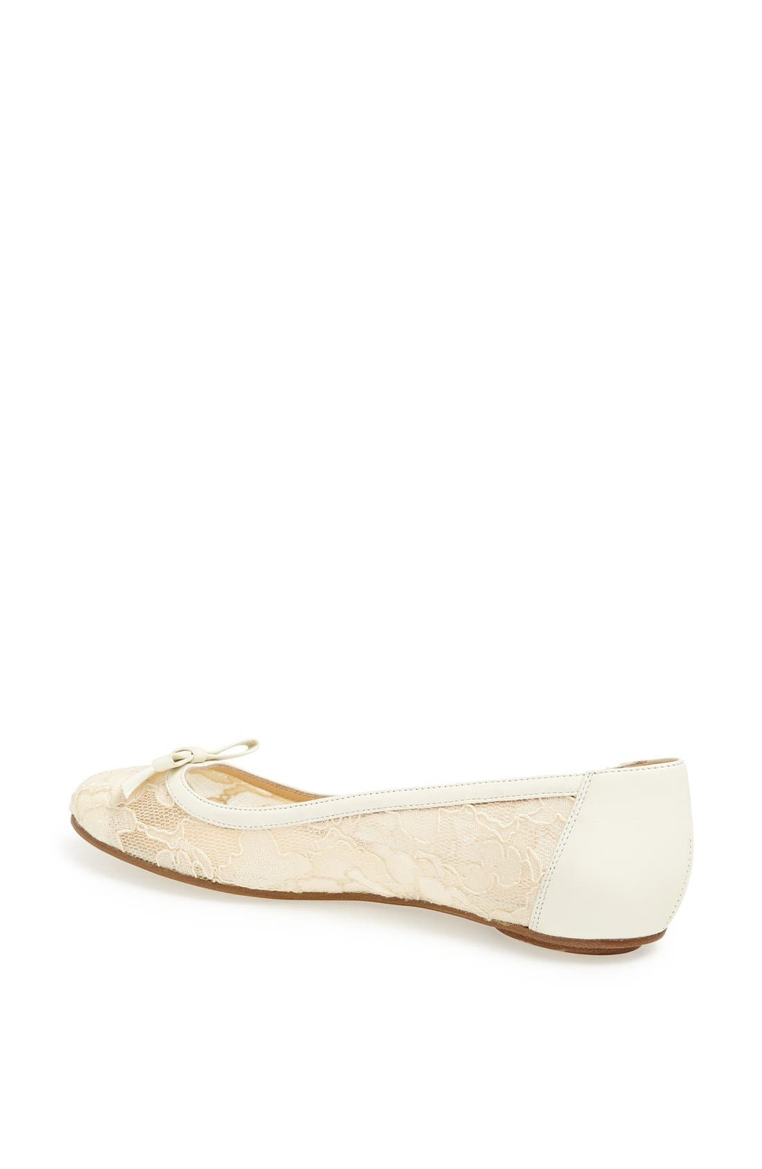 Alternate Image 2  - kate spade new york 'banner' lace & leather flat
