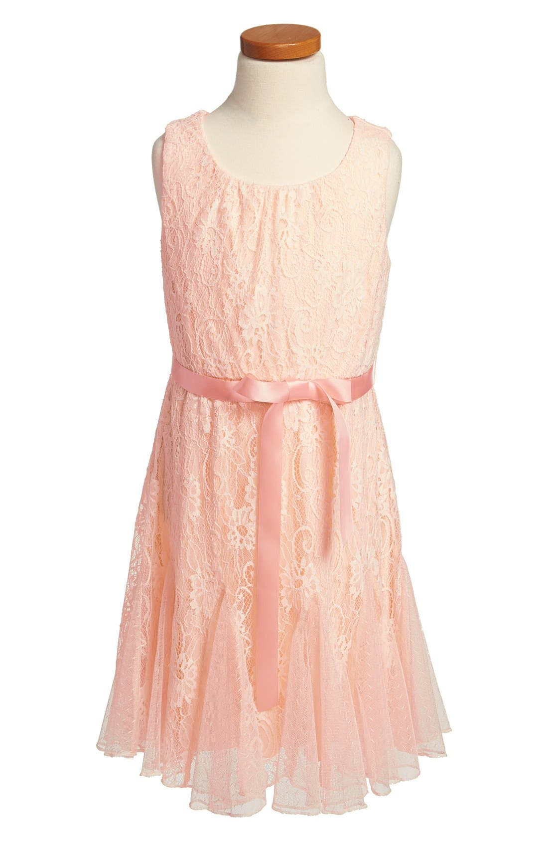 Main Image - Roxette Sleeveless Lace Dress (Big Girls)
