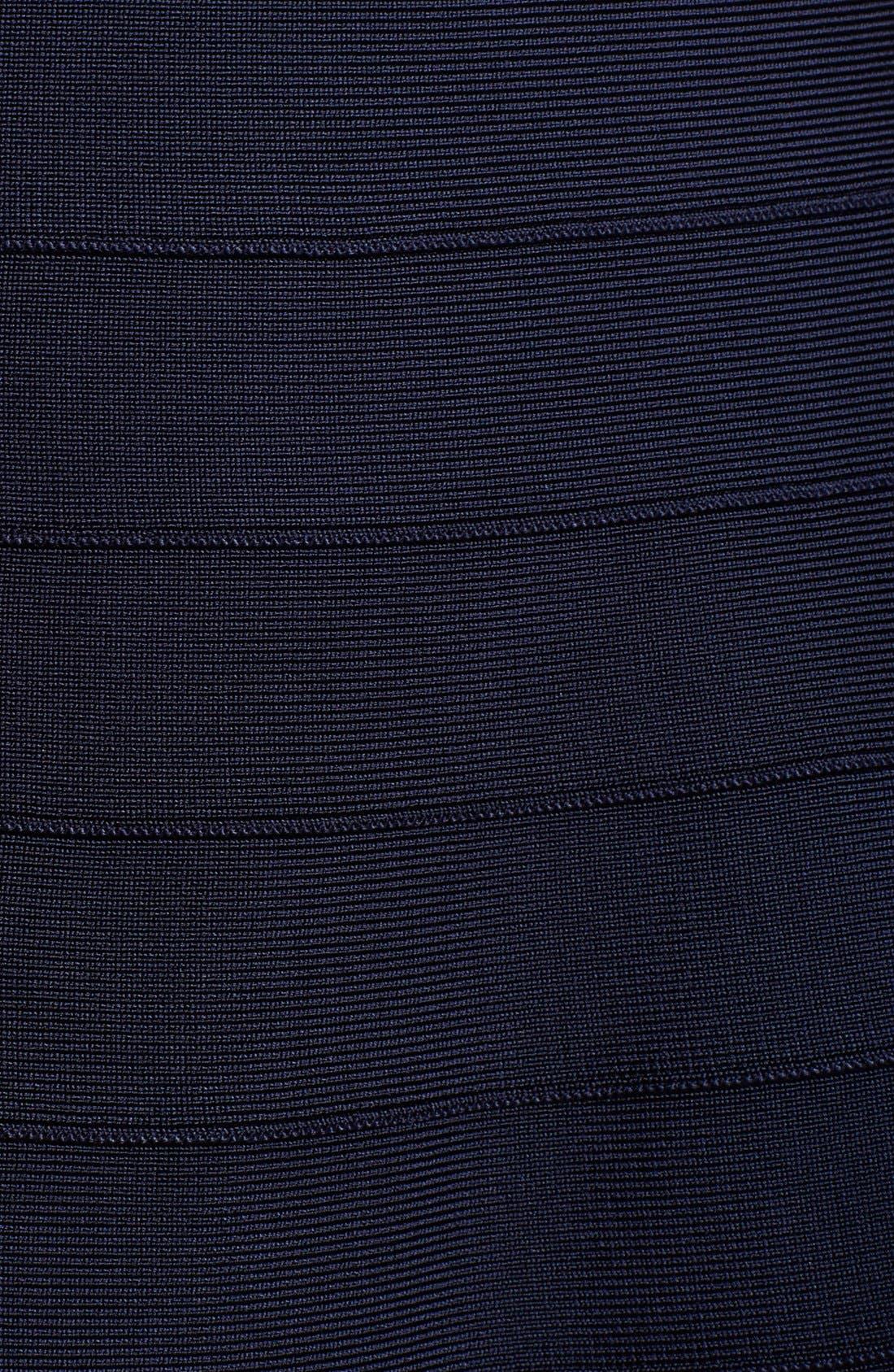 Alternate Image 3  - Herve Leger One-Shoulder A-Line Dress
