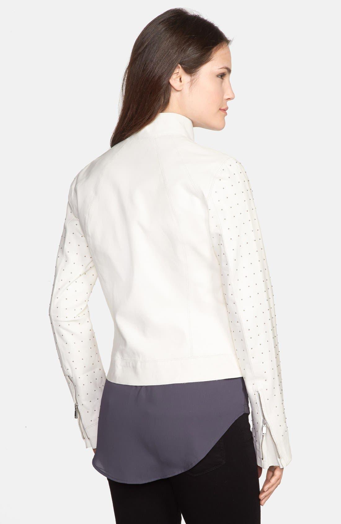 Alternate Image 2  - Elie Tahari 'Suella' Studded Sleeve Leather Jacket