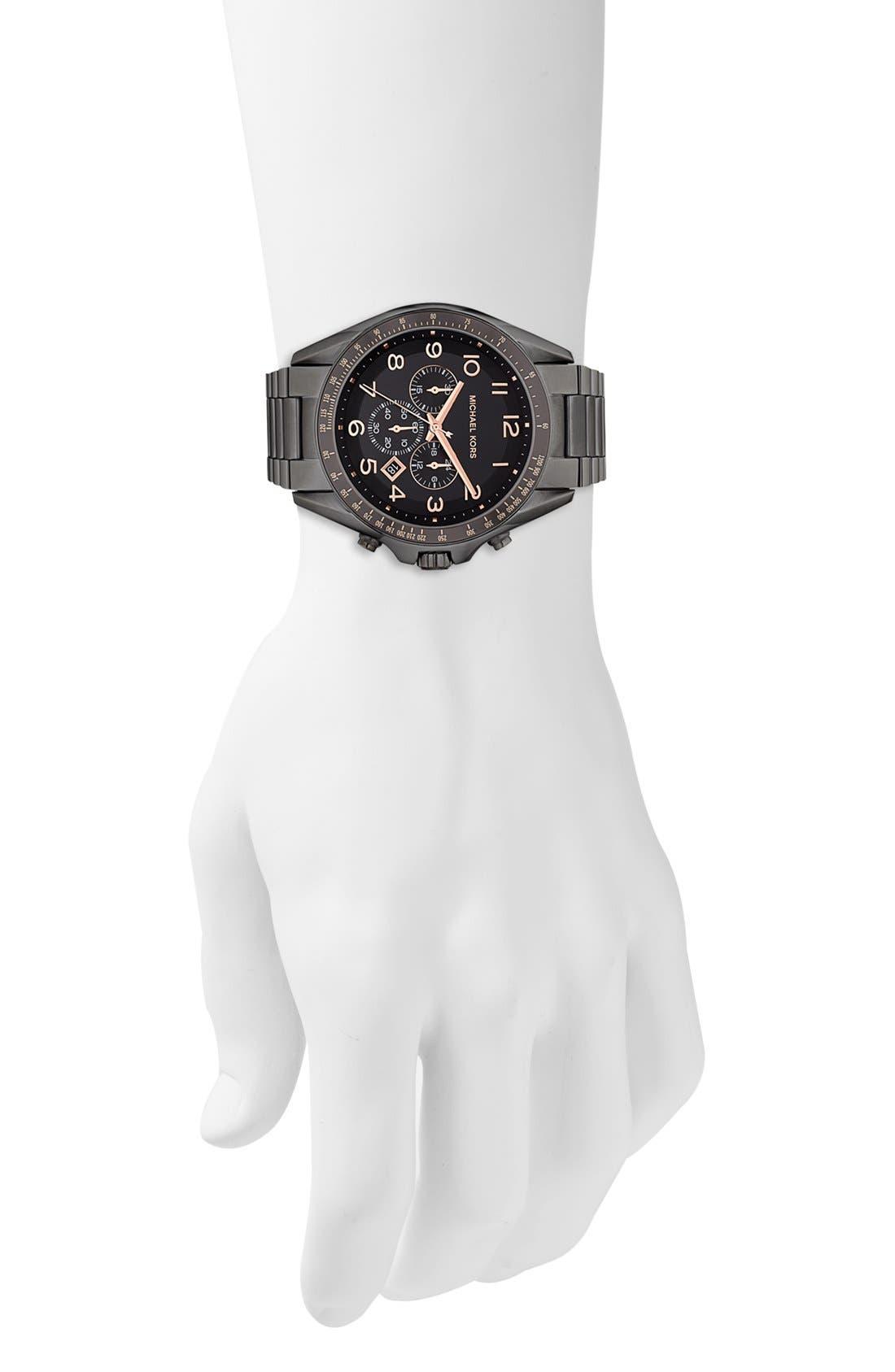 Alternate Image 4  - Michael Kors 'Bradshaw' Chronograph Bracelet Watch, 48mm
