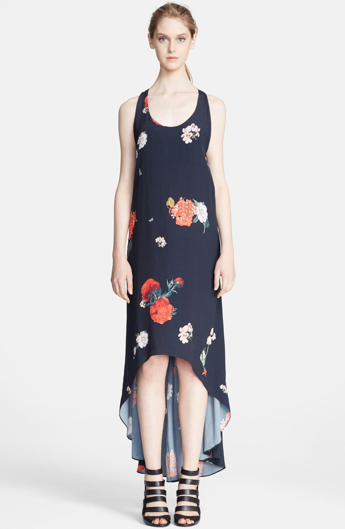 Main Image - Alice + Olivia 'Veronica' Floral Print High/Low Dress