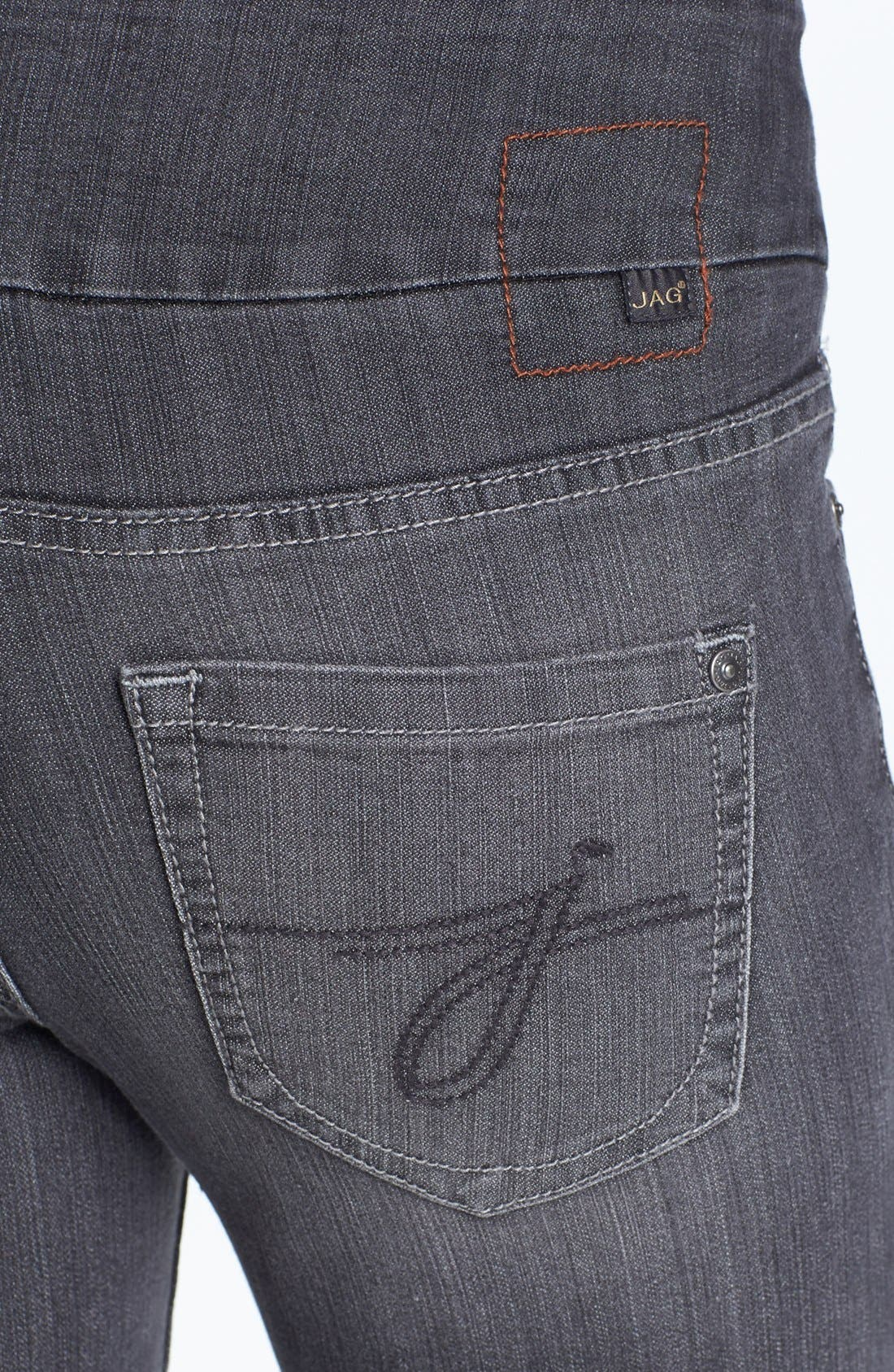 Alternate Image 3  - Jag Jeans 'Malia' Slim Leg Stretch Jeans (Grey) (Petite)
