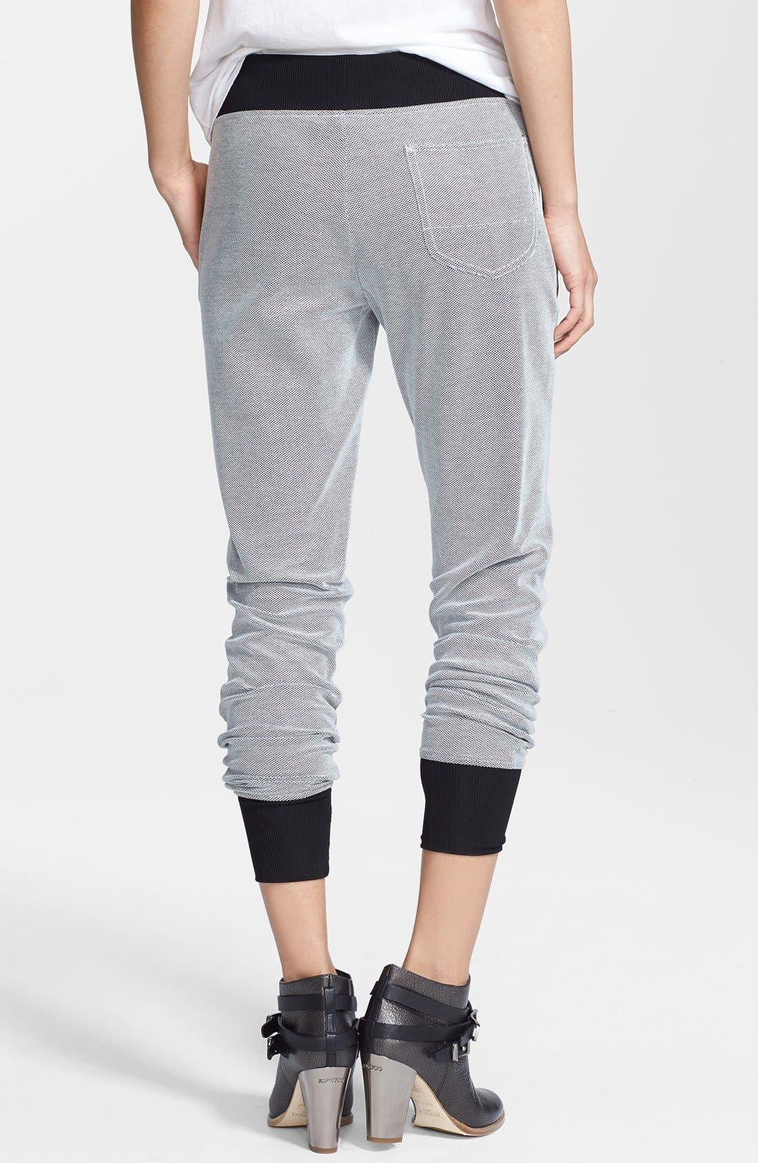 Alternate Image 2  - rag & bone 'Lena' Cotton Piqué Track Pants