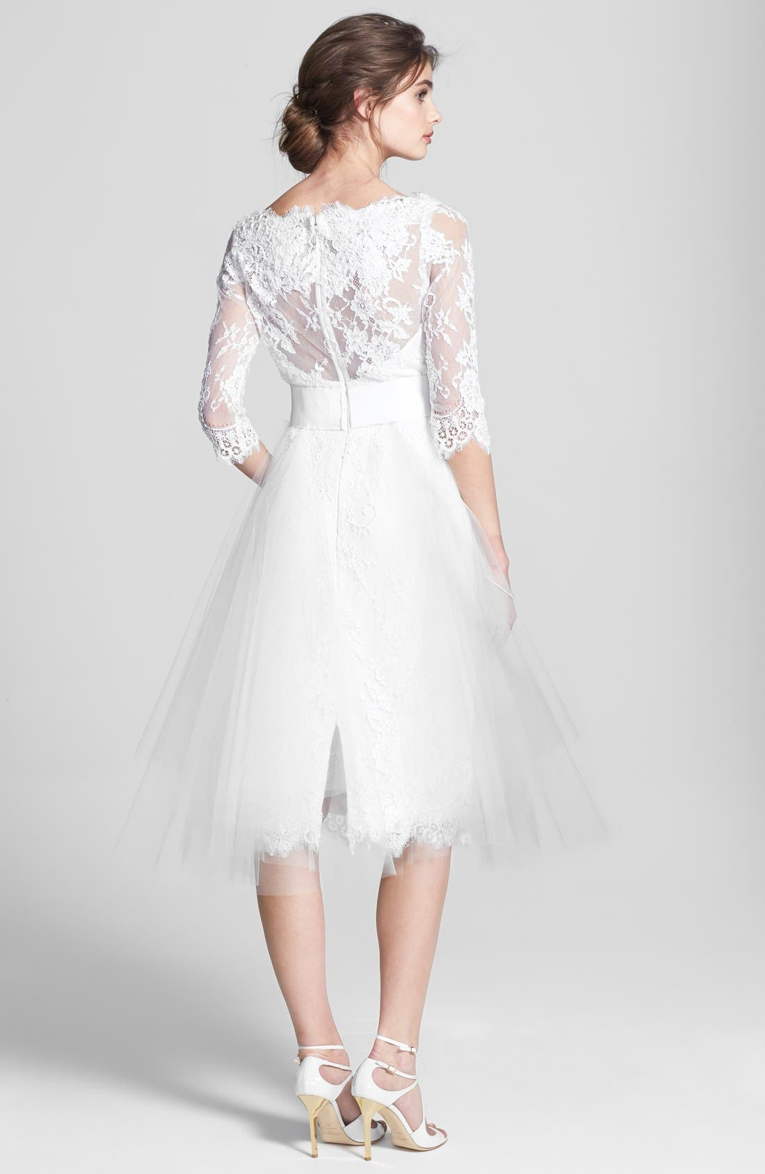 Alternate Image 2  - Marchesa Tulle Overskirt Embroidered Lace Dress (In Stores Only)