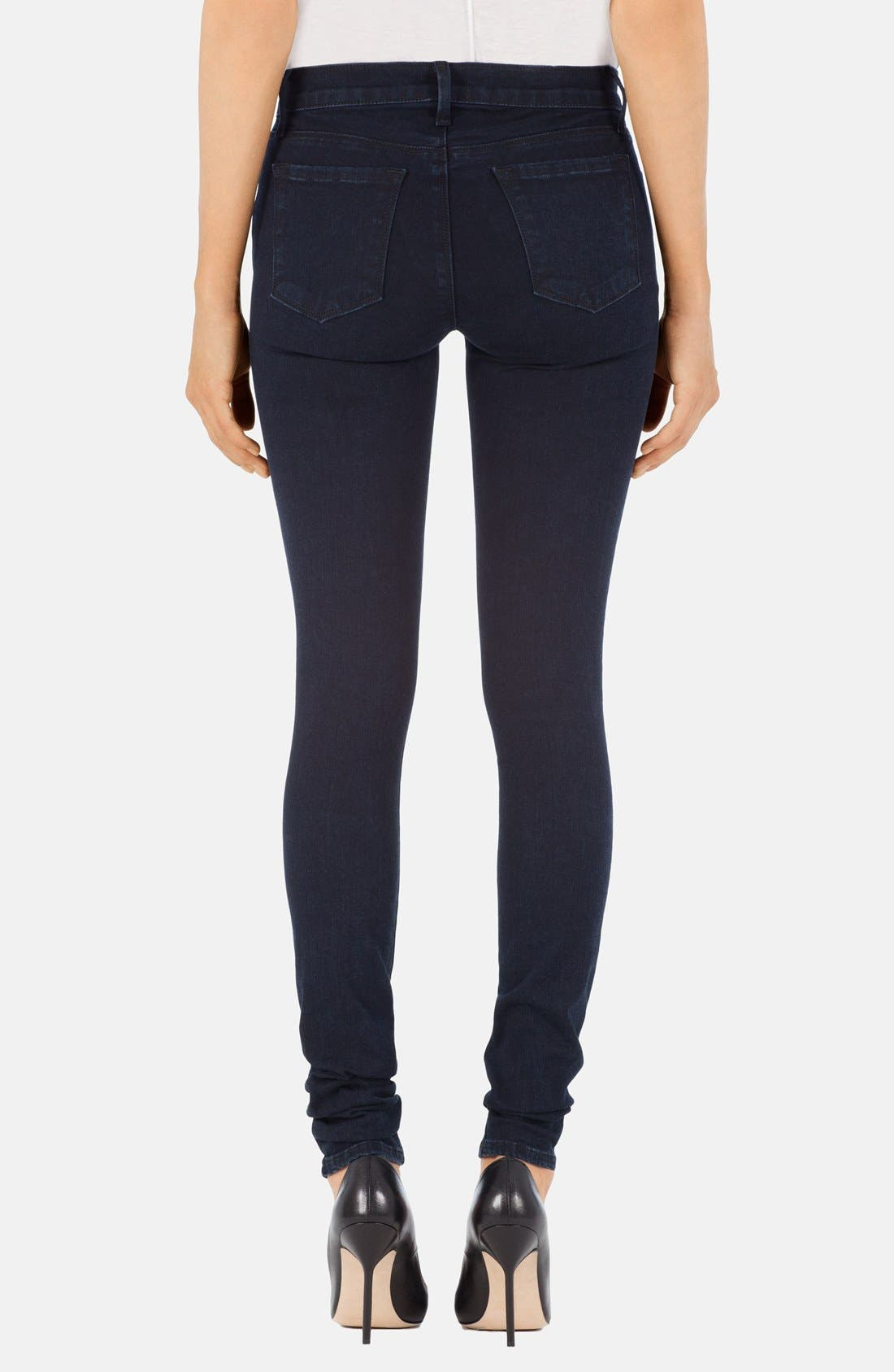 Alternate Image 2  - J Brand Stacked Skinny Jeans (Bluebird)