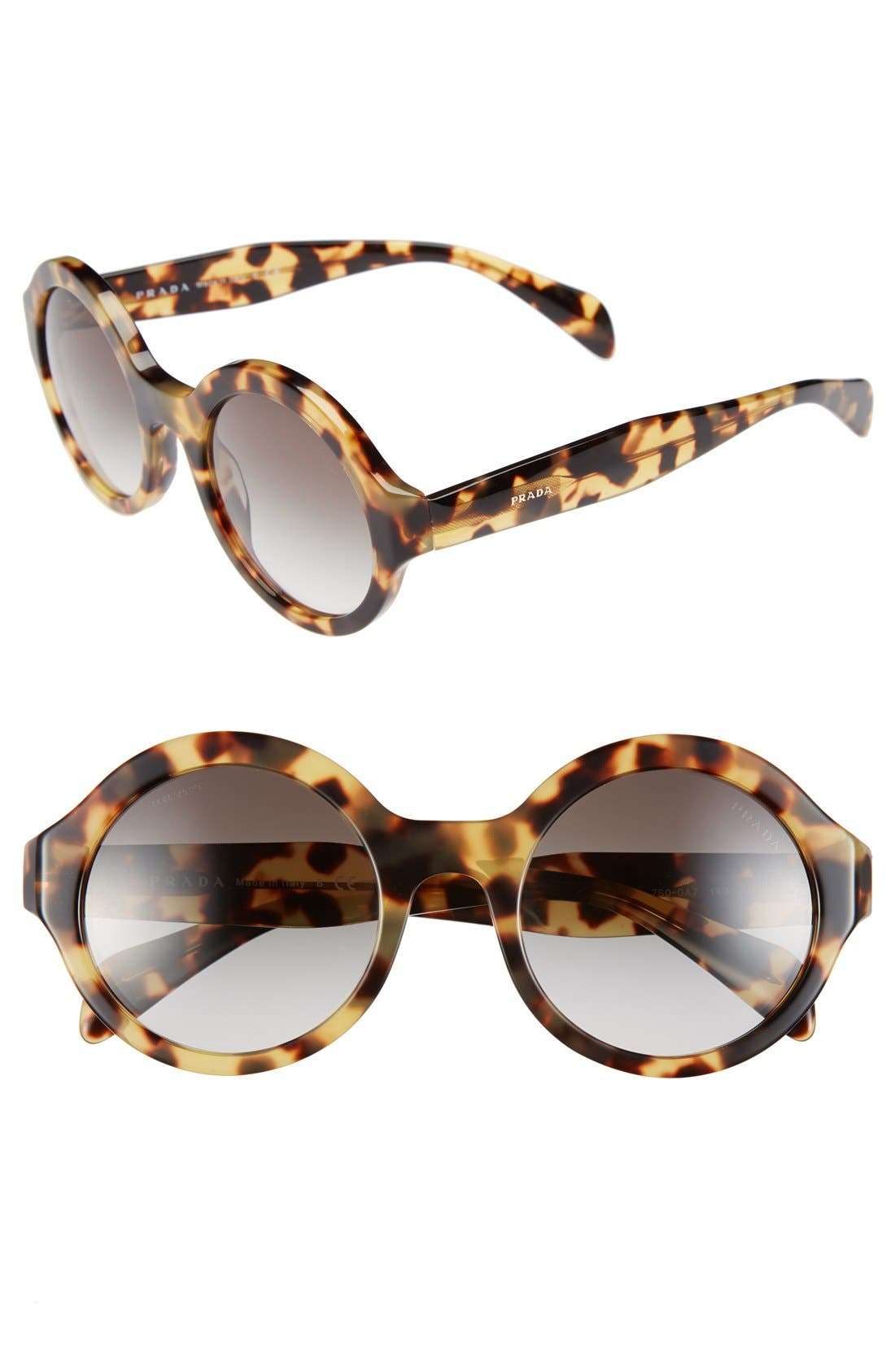 Alternate Image 1 Selected - Prada 51mm Round Sunglasses
