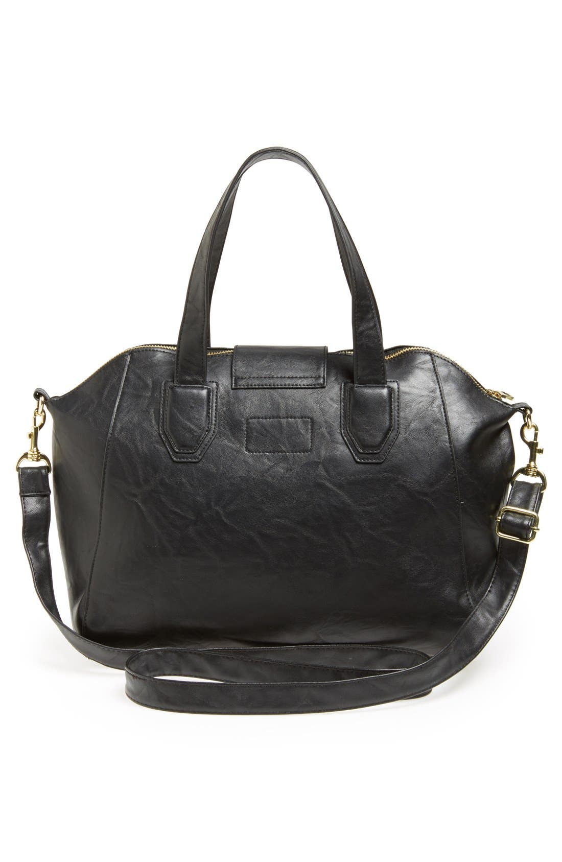 Alternate Image 3  - Lulu Faux Leather Satchel (Juniors)