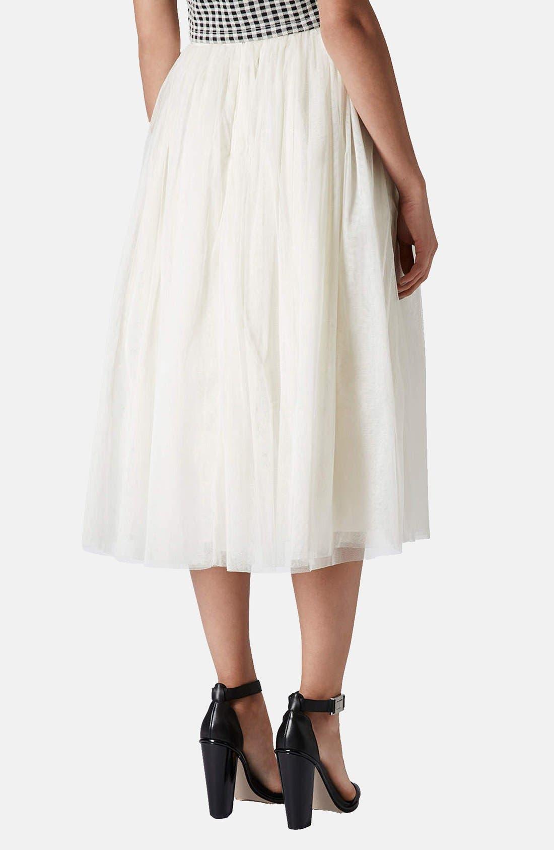 Alternate Image 2  - Topshop 'Ballerina Prom' Tulle Midi Skirt