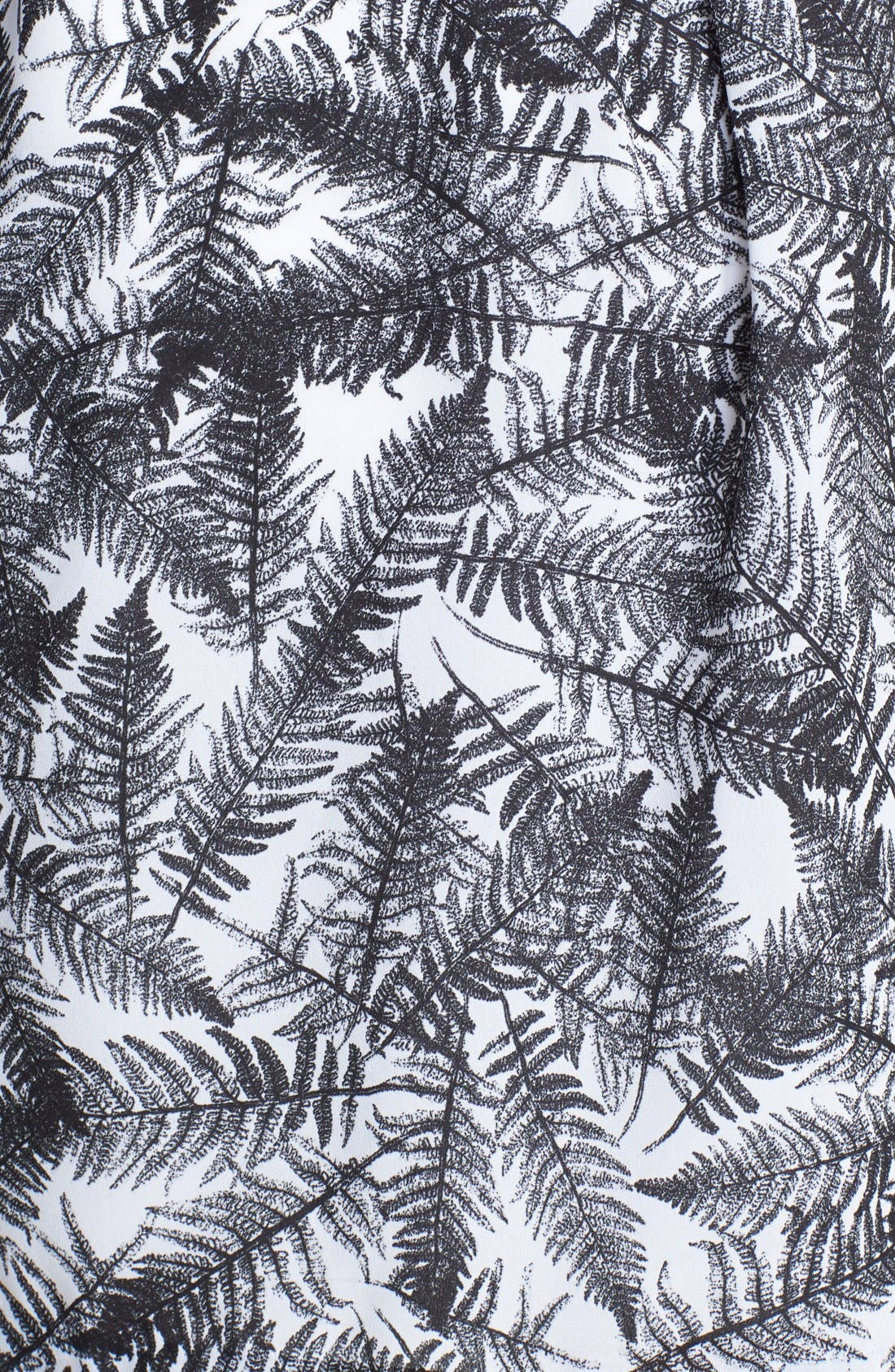 Alternate Image 3  - kensie 'Overlapped Ferns' Print Fit & Flare Dress