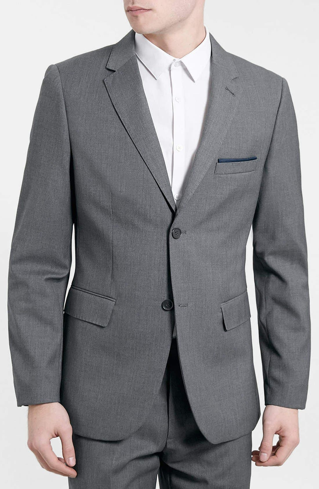 Alternate Image 1 Selected - Topman Skinny Fit Blazer