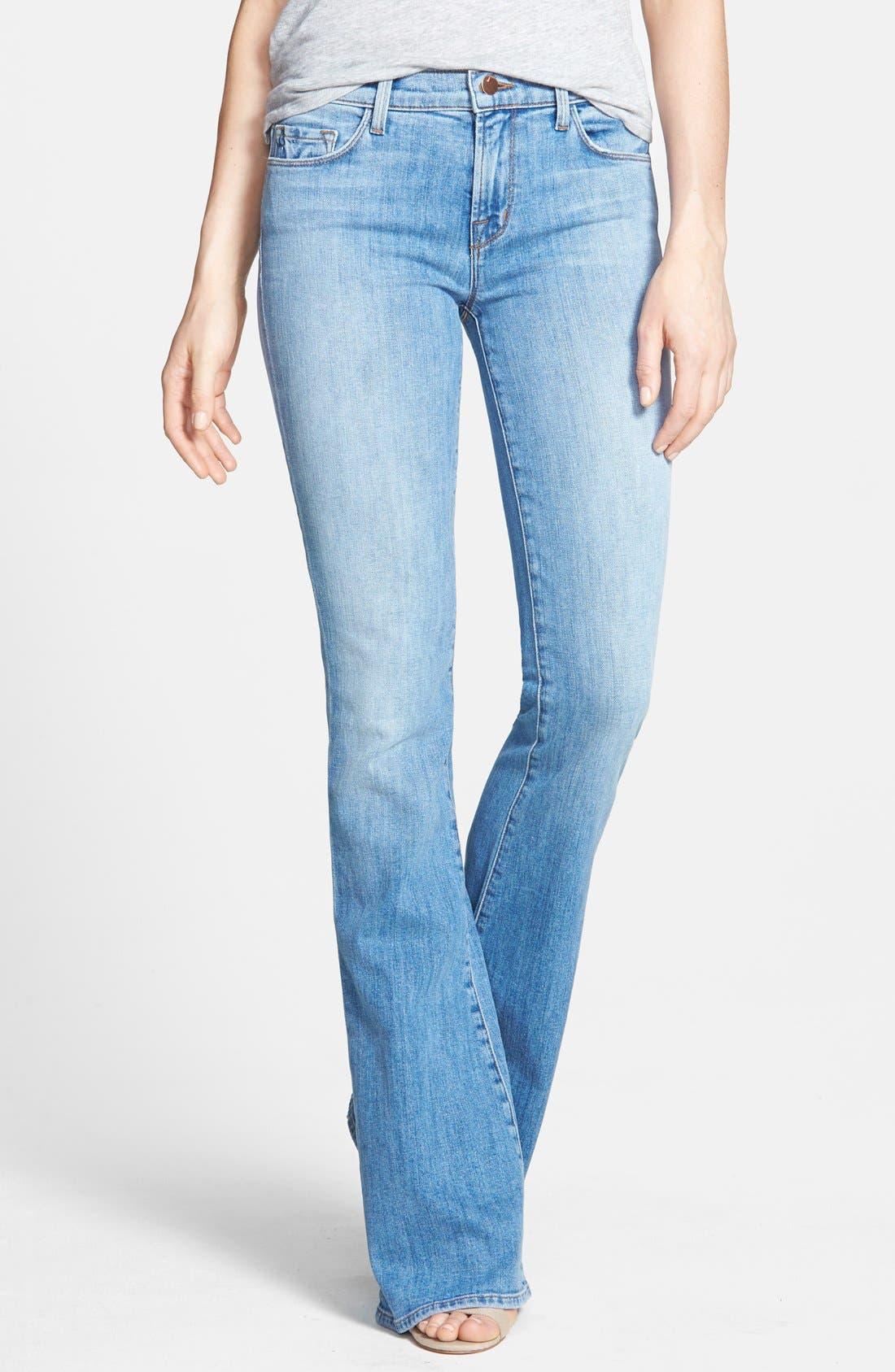 Main Image - J Brand 'Martini' Flared Jeans (Eternal)