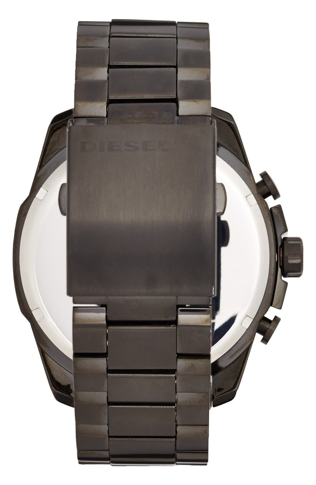 Alternate Image 2  - DIESEL® 'Mega Chief' Chronograph Bracelet Watch, 51mm