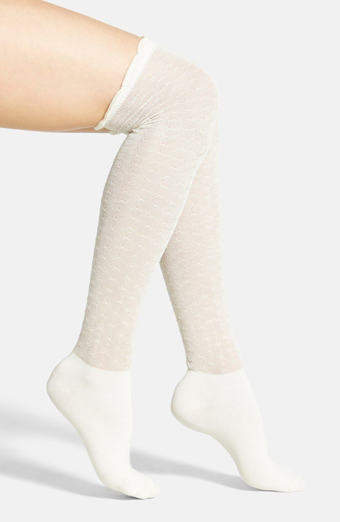 Main Image - PACT Slouchy Organic Cotton Over the Knee Socks