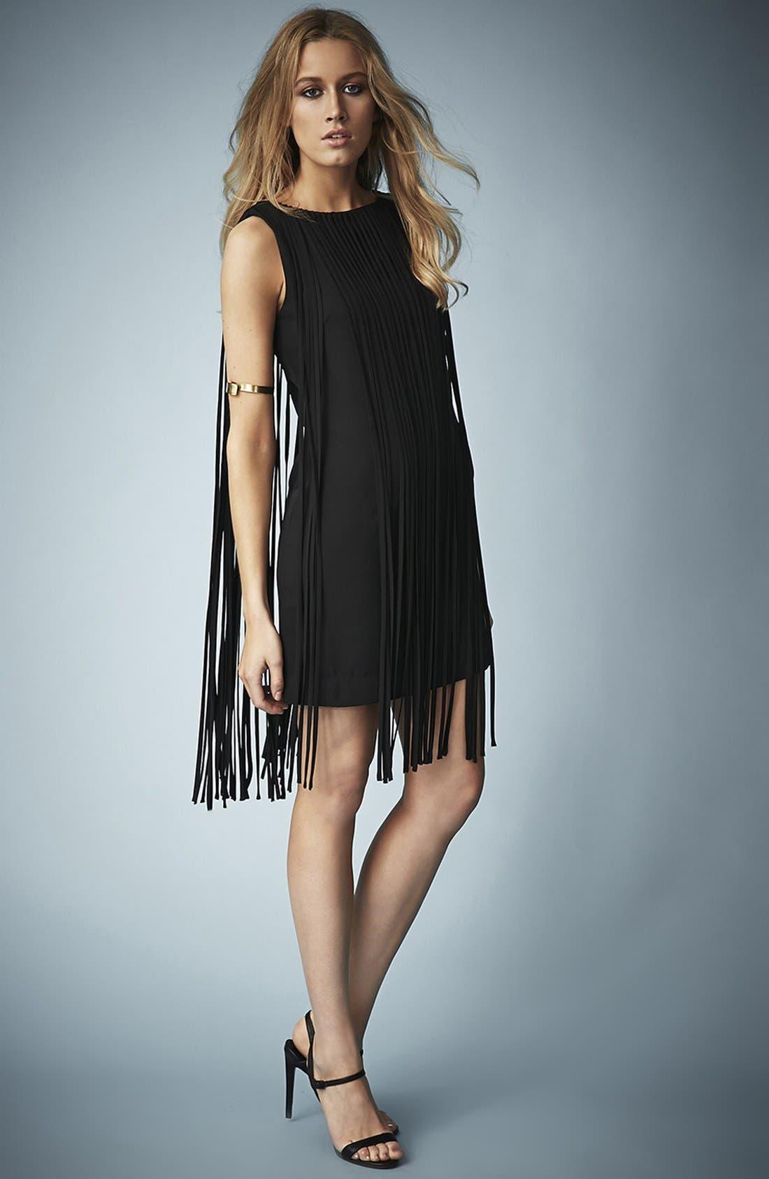 Alternate Image 5  - Kate Moss for Topshop Long Fringed Tassel Dress