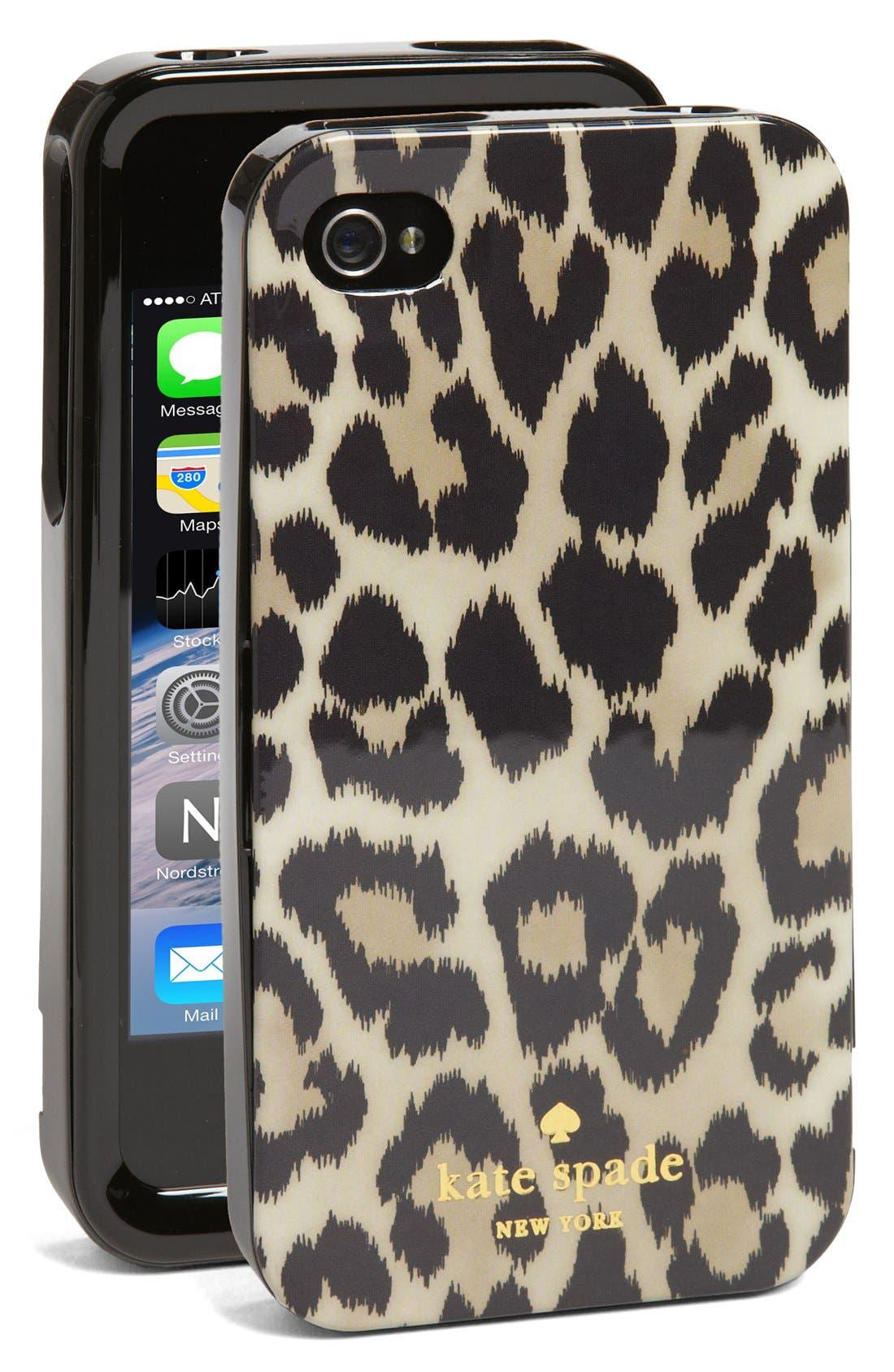 Alternate Image 1 Selected - kate spade new york 'leopard ikat' iPhone 4 & 4s case