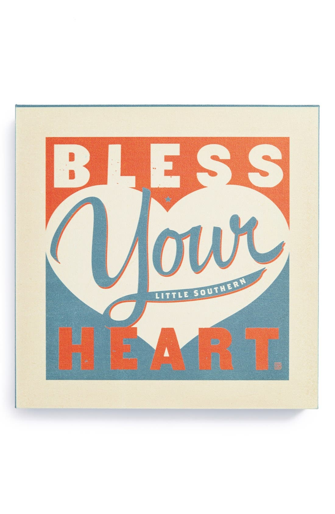 Alternate Image 1 Selected - DENY Designs 'Anderson Design Group - Bless Your Little Southern Heart' Canvas Wall Art