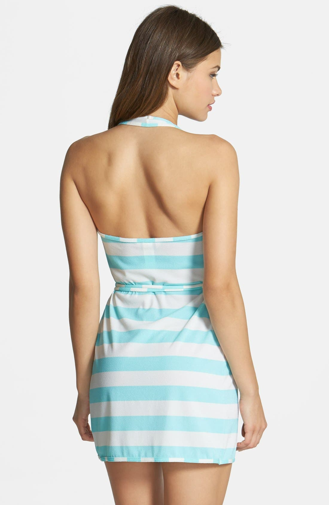 Alternate Image 2  - Juicy Couture Beach 'Sixties Stripe' Halter Cover-Up Wrap Dress