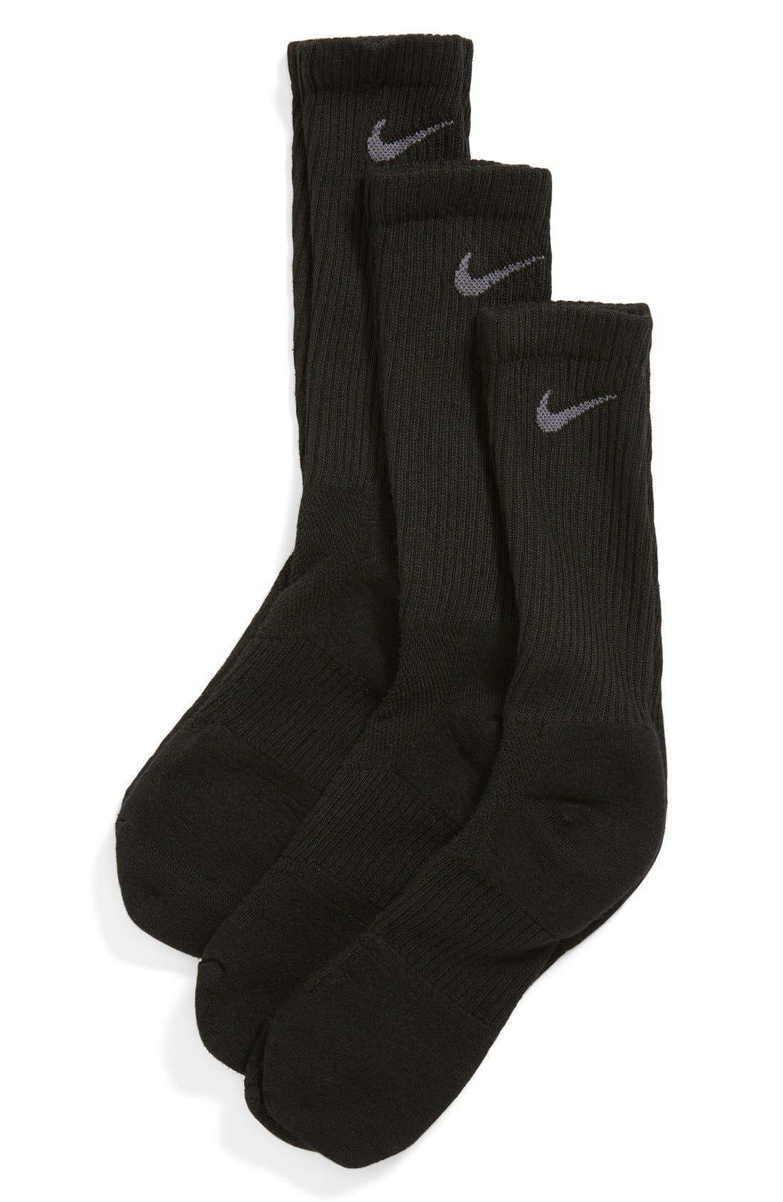 Main Image - Nike Dri-FIT 3-Pack Crew Socks