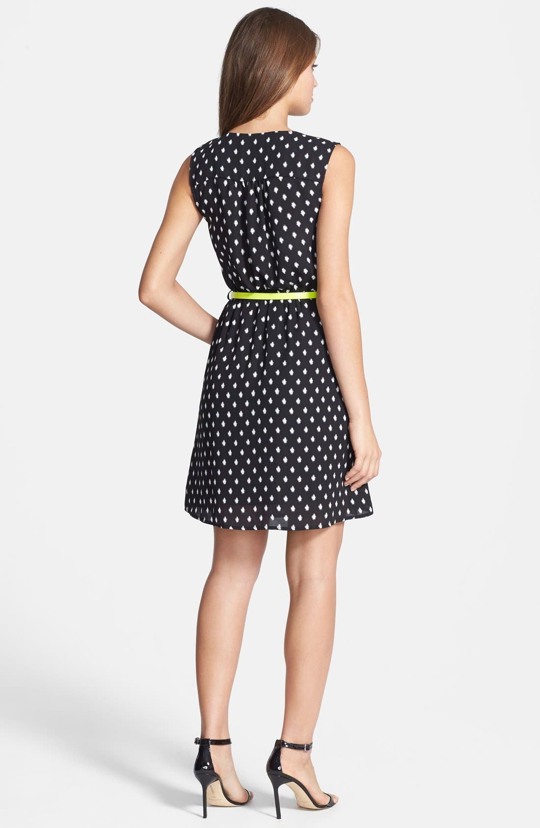 Alternate Image 2  - Dex 'Fuzzy Dot' Fit & Flare Dress