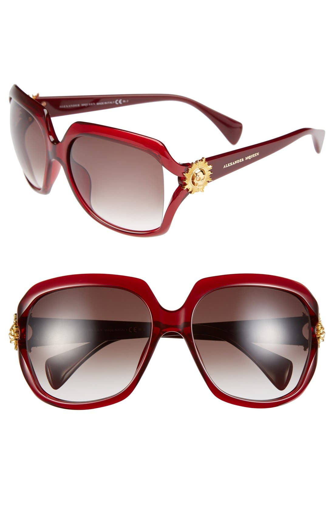 Alternate Image 1 Selected - Alexander McQueen 59mm Sunglasses
