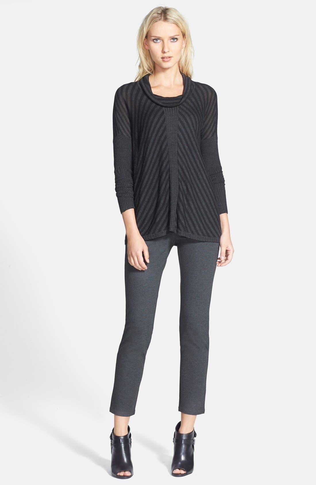 Alternate Image 4  - Eileen Fisher Slim Knit Ankle Pants (Regular & Petite)