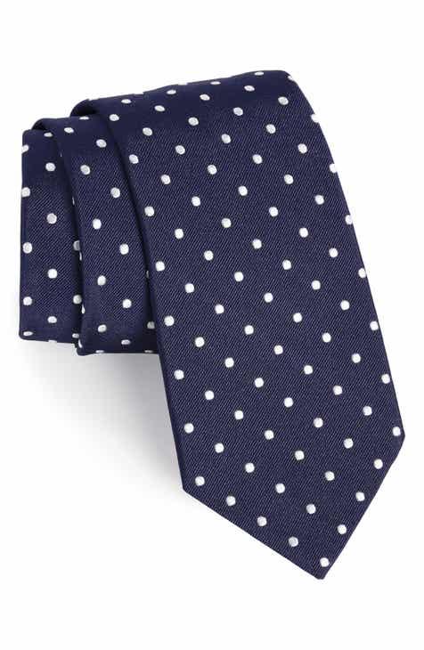 d43b5dc68195 Gitman Polka Dot Silk Tie (X-Long)