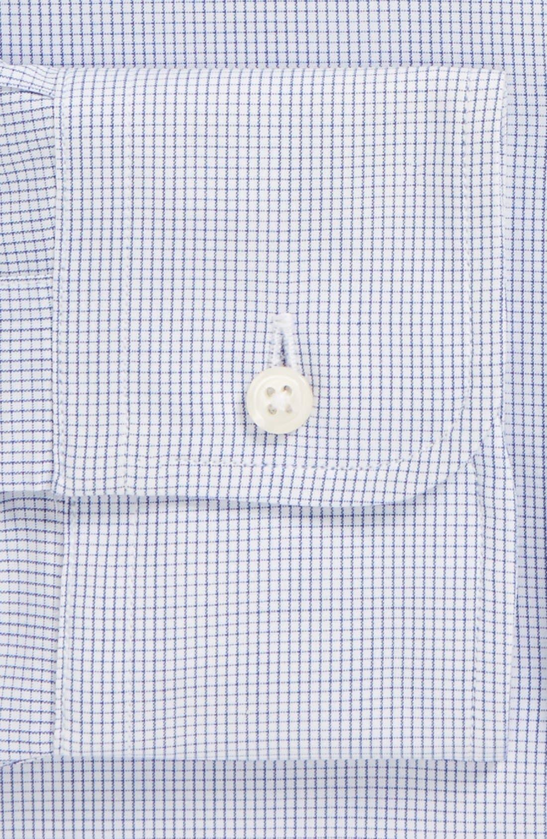 Alternate Image 2  - Gitman Regular Fit Mini Check Cotton English Spread Collar Dress Shirt