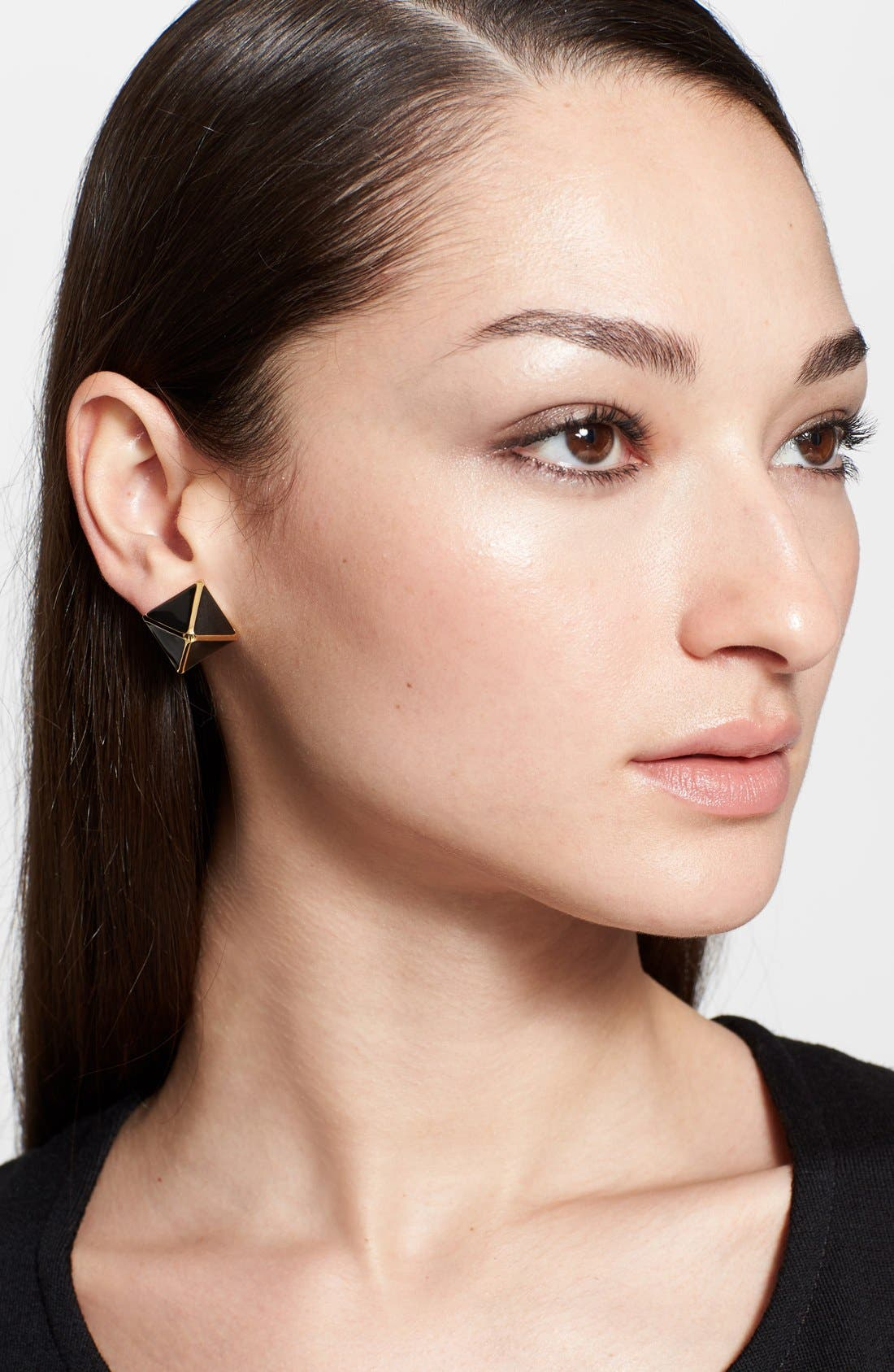 Alternate Image 4  - St. John Collection Enamel Pyramid Stud Earrings