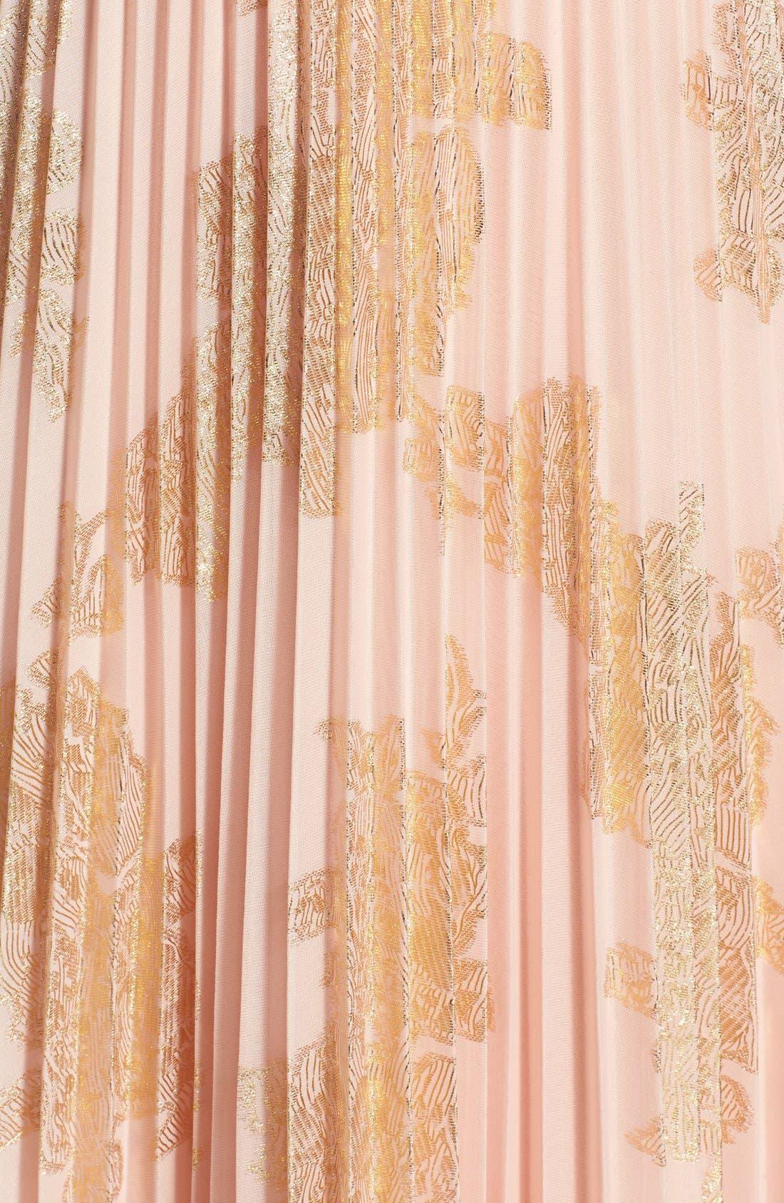 Alternate Image 3  - Xscape Foiled Pleat Blouson Dress