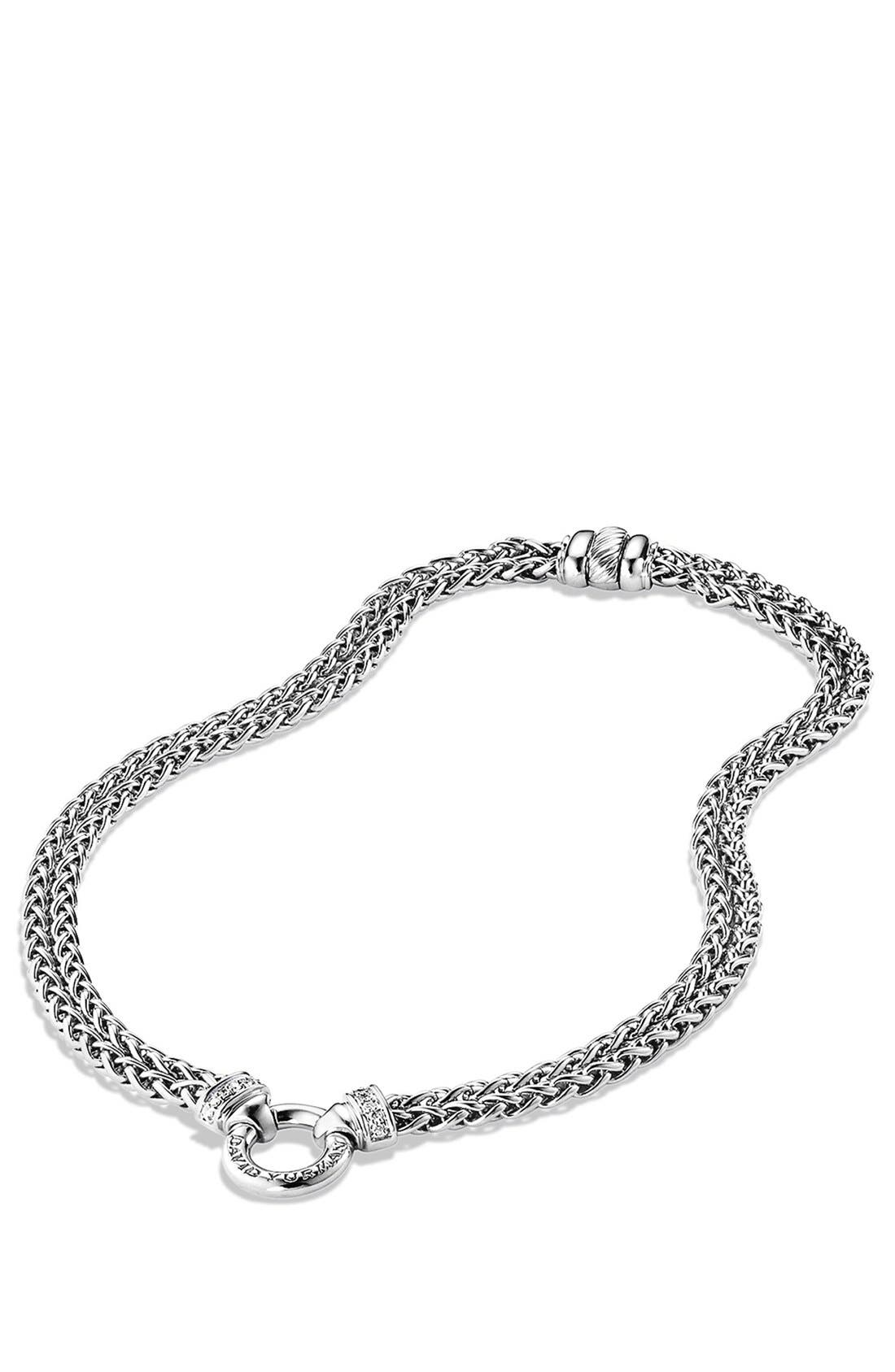 Alternate Image 2  - David Yurman Double Wheat Chain Necklace with Gold