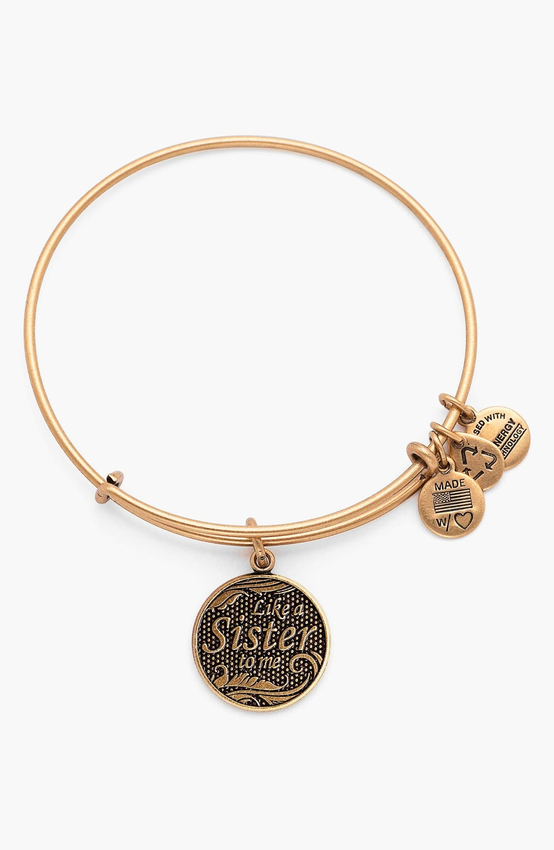 Main Image - Alex and Ani 'Like a Sister to Me' Expandable Wire Bangle