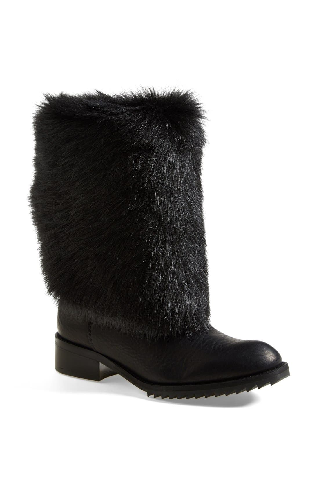 Alternate Image 1 Selected - Pedro Garcia 'Odette' Genuine Shearling & Leather Boot (Women)